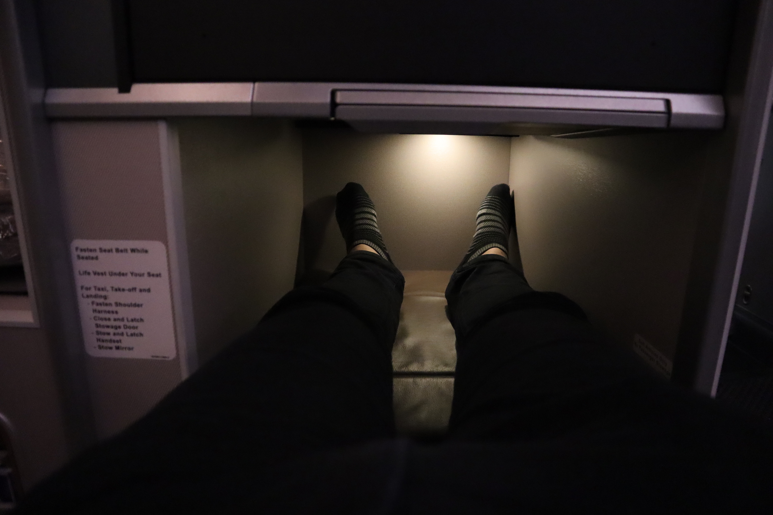 Singapore Airlines 787-10 business class – Legroom