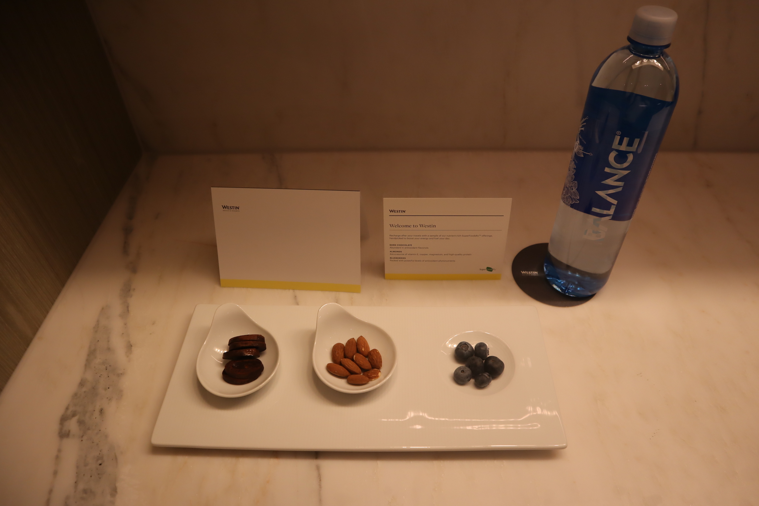 Westin Perth – Welcome snacks