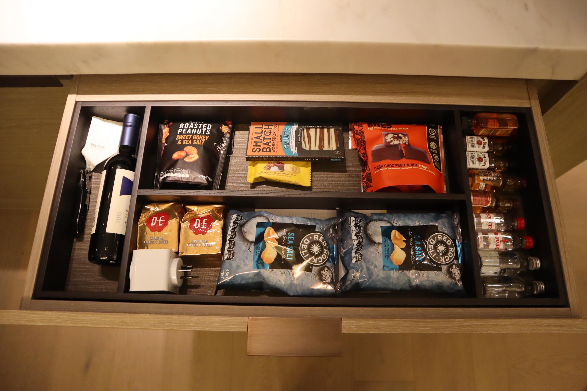 Westin Perth – Minibar snacks