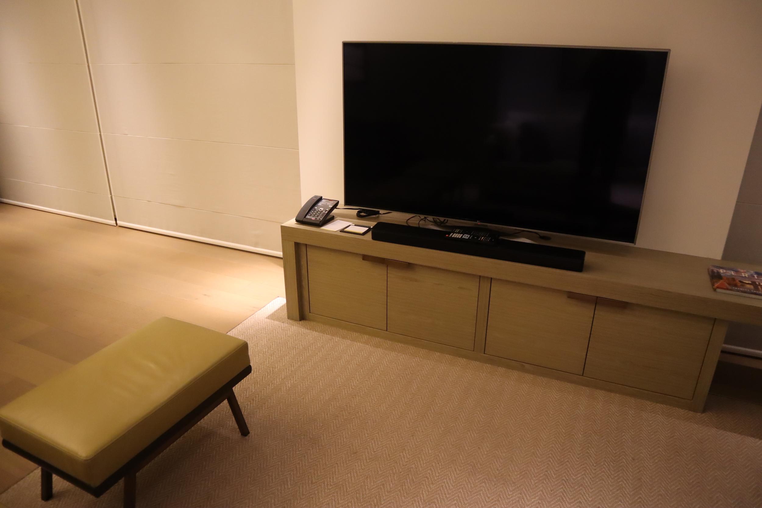 Westin Perth – Westin Suite living area television