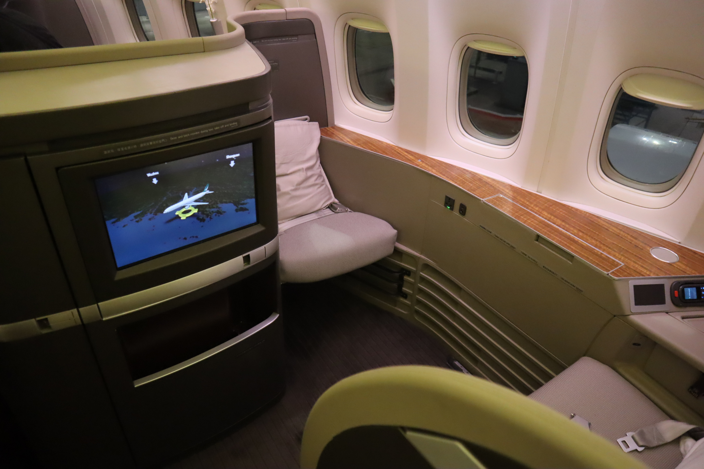 Cathay Pacific First Class – Seat 2K