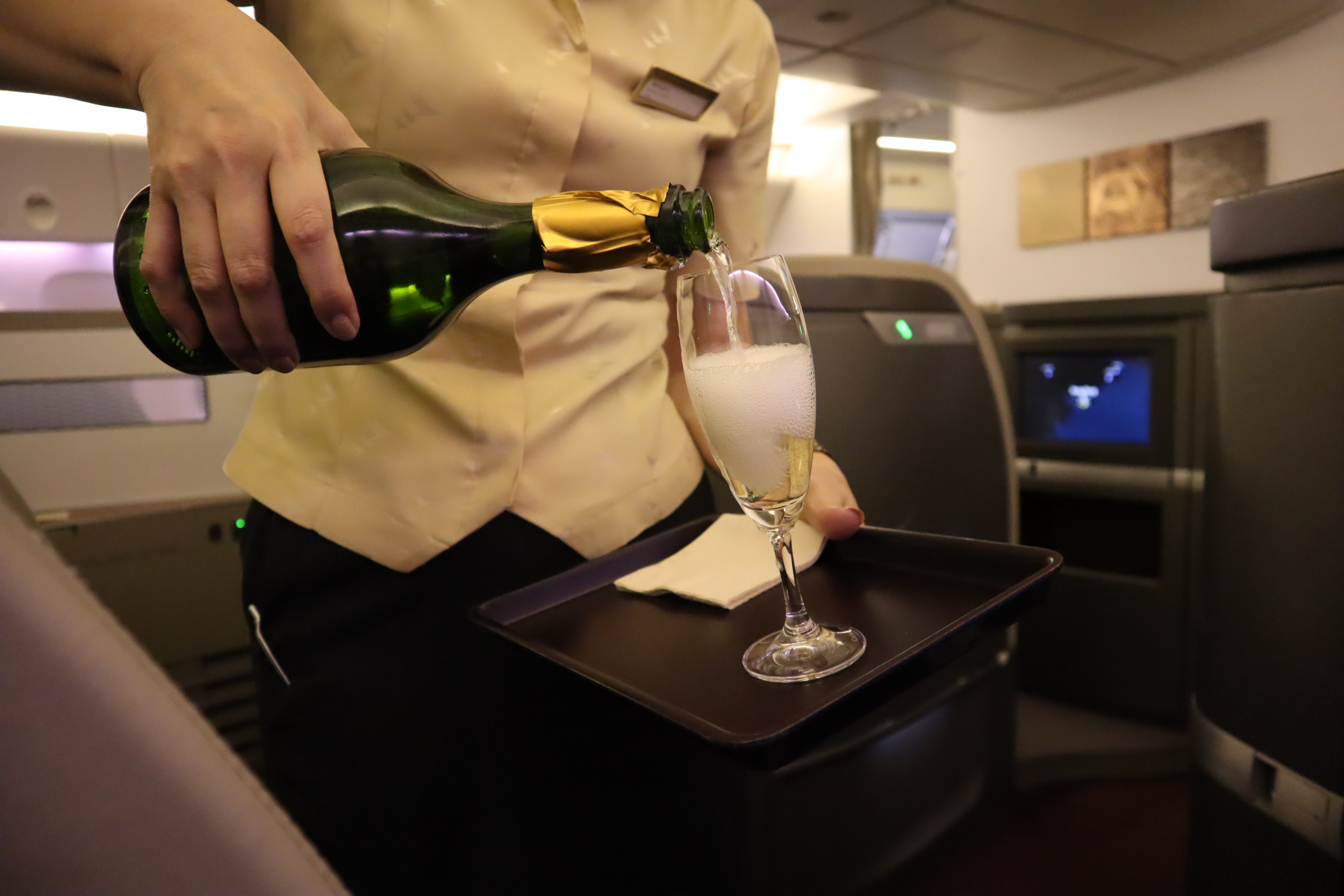 Cathay Pacific First Class – Champagne