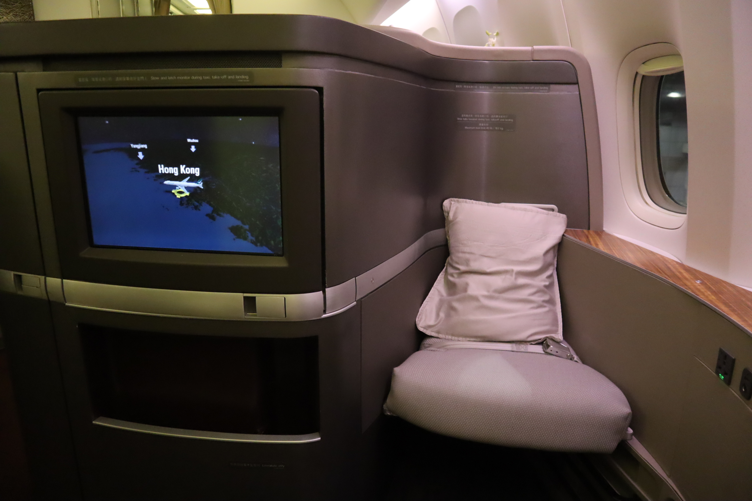 Cathay Pacific First Class – Buddy seat