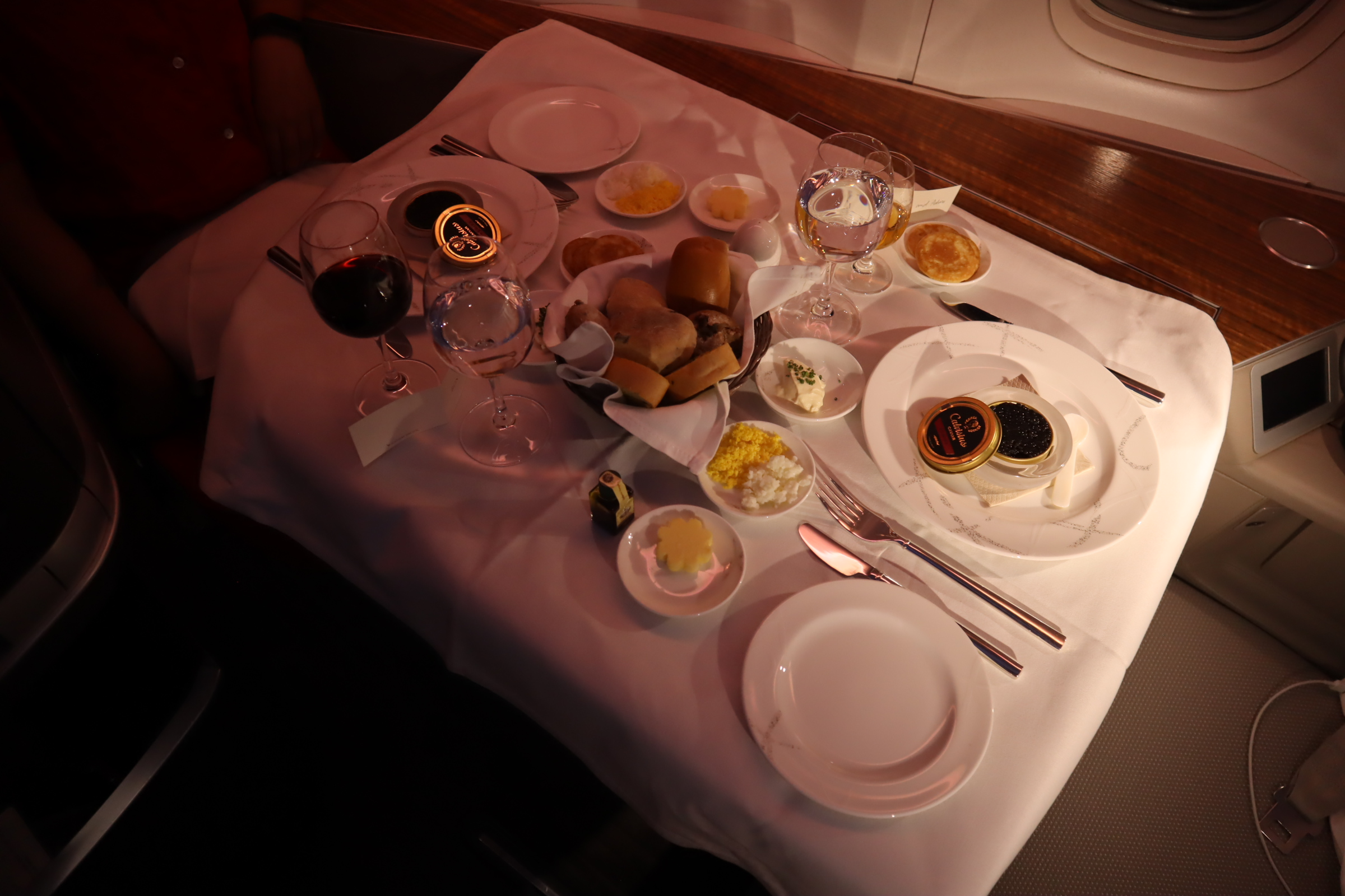 Cathay Pacific First Class – Caviar and champagne