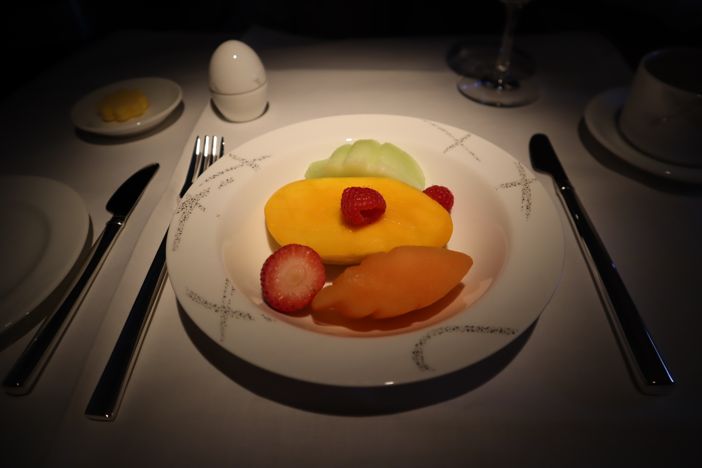 Cathay Pacific First Class – Fruit plate