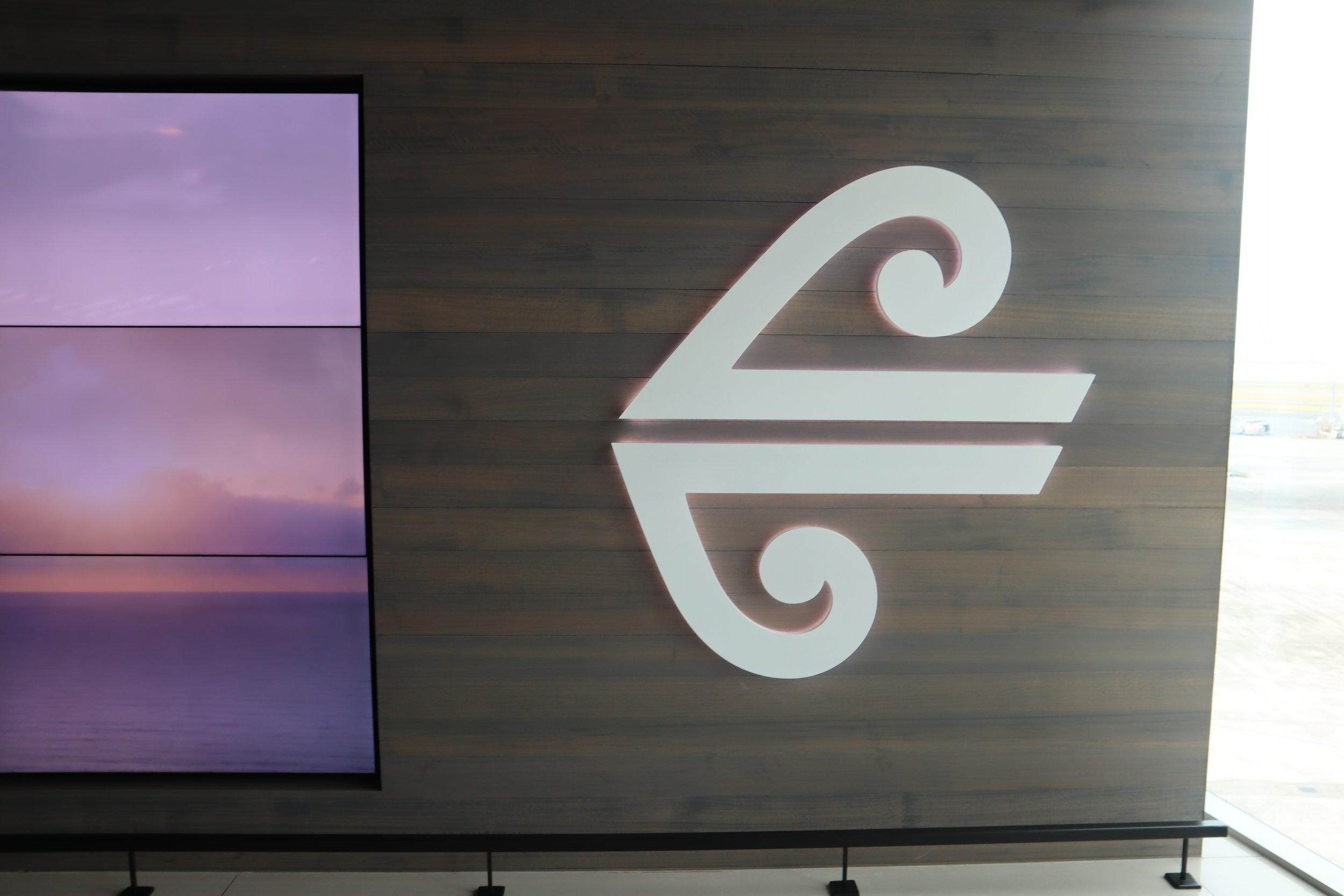 Air New Zealand Lounge Auckland – Koru symbol
