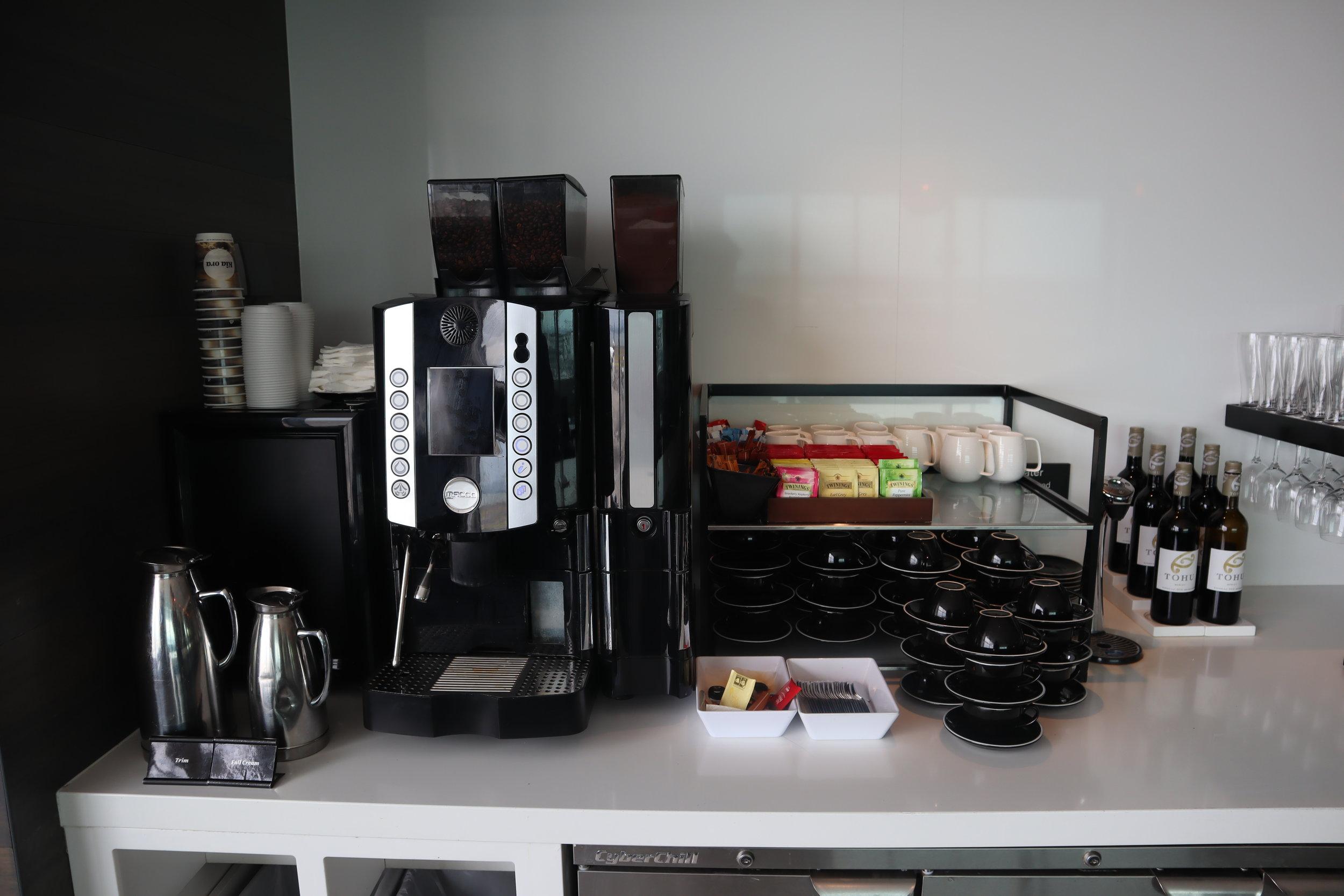 Air New Zealand Lounge Auckland – Coffee machine