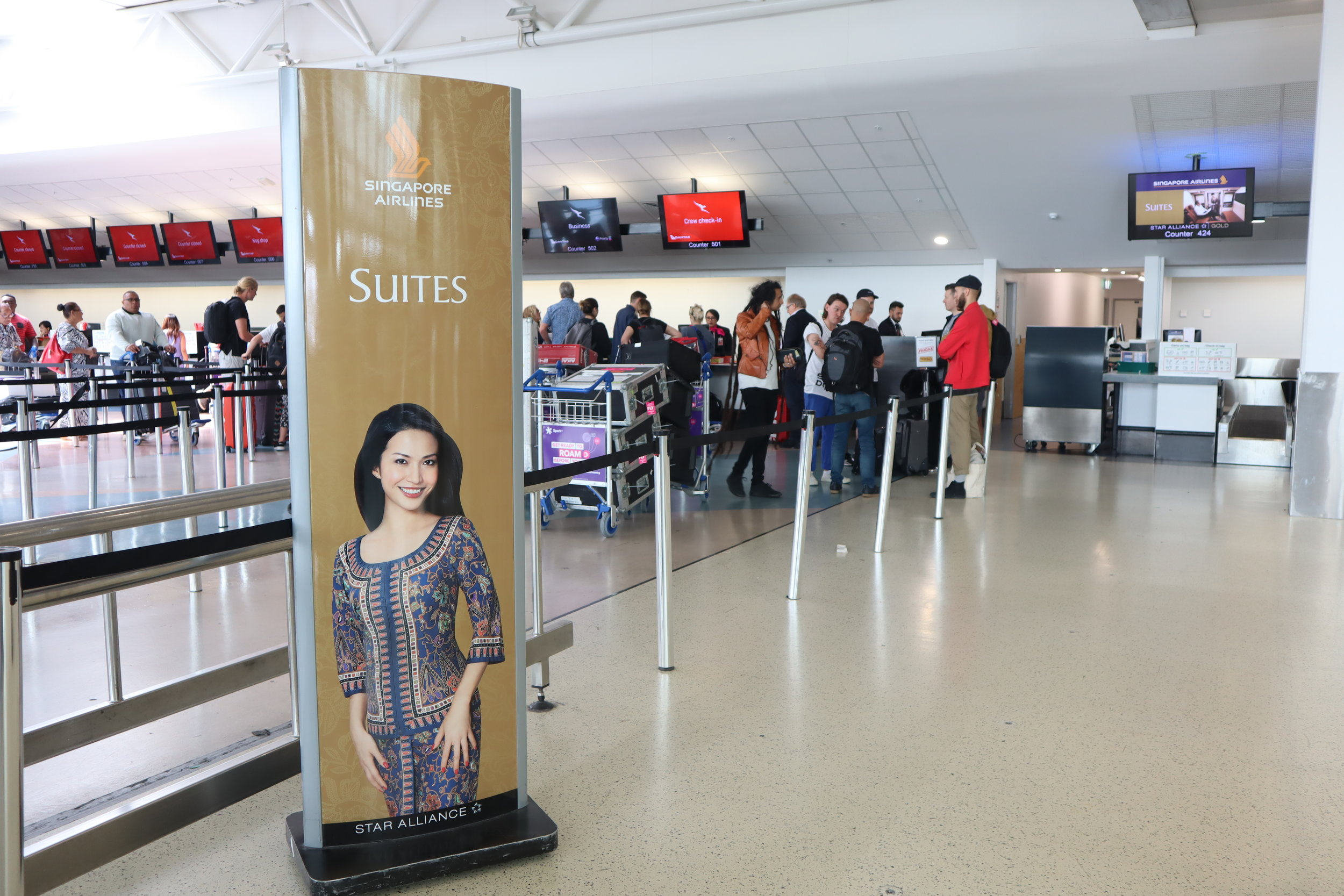 Singapore Airlines Suites Class – Check-in