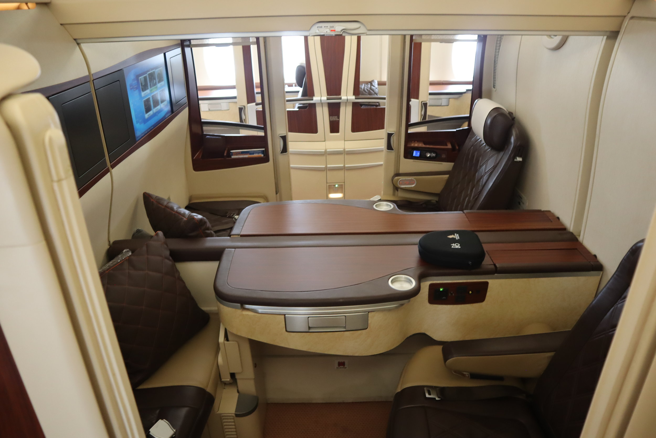 Singapore Airlines Suites Class – Seats 3C and 3D