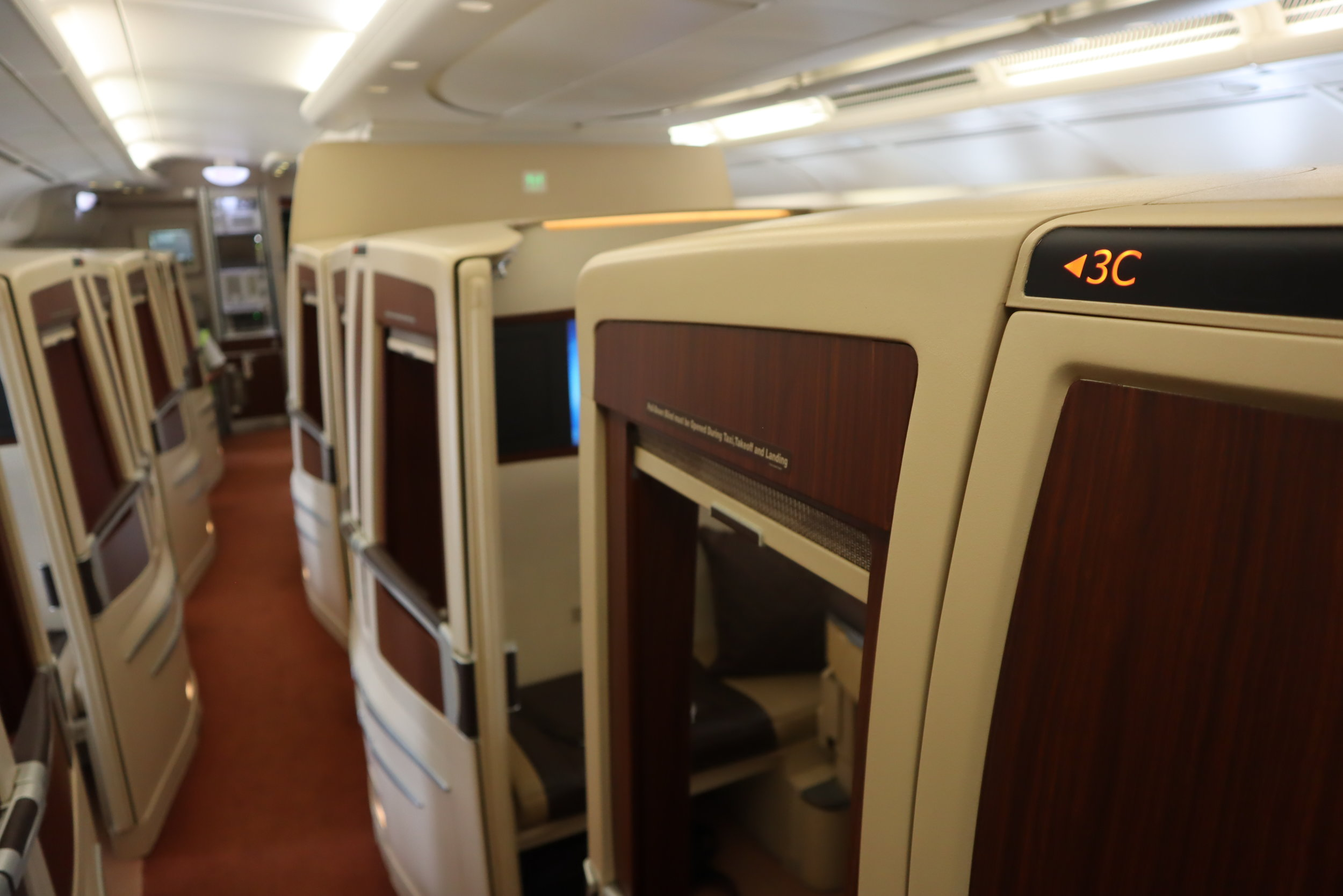 Singapore Airlines Suites Class – Seat 3C