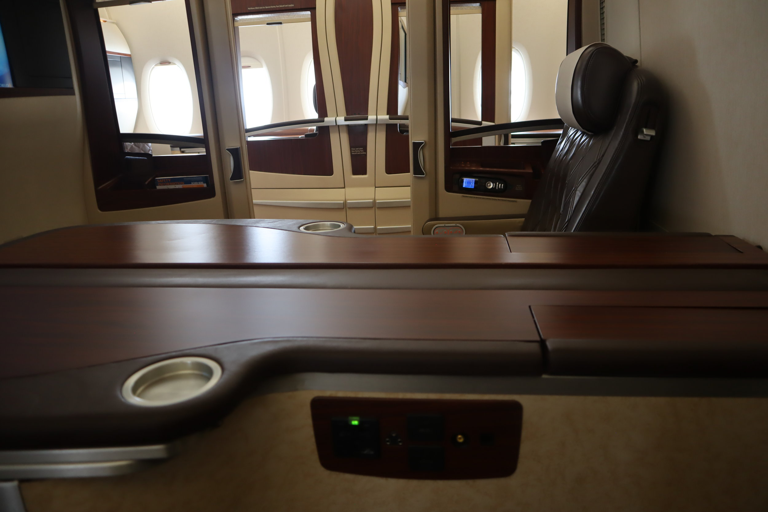 Singapore Airlines Suites Class – Seat console
