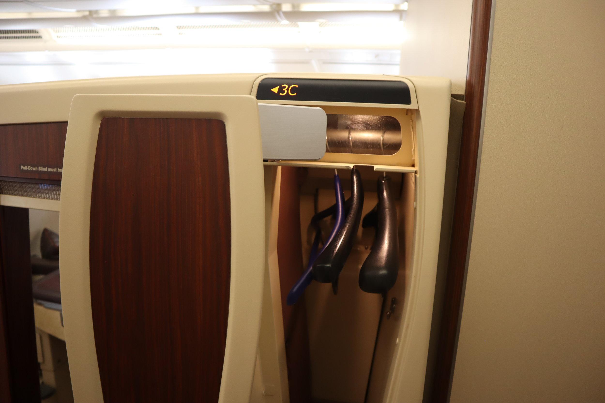 Singapore Airlines Suites Class – Closet