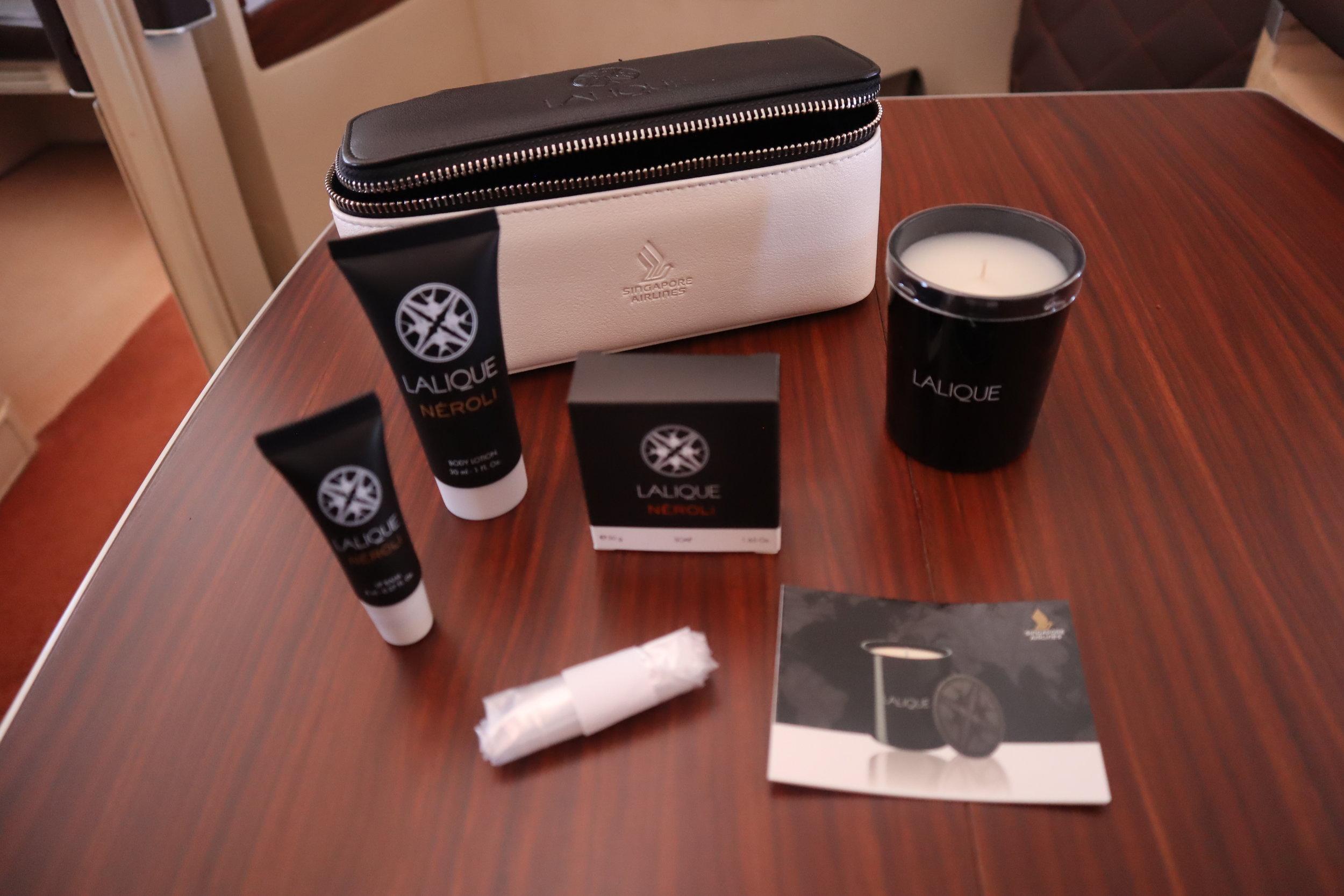 Singapore Airlines Suites Class – Lalique amenity kit