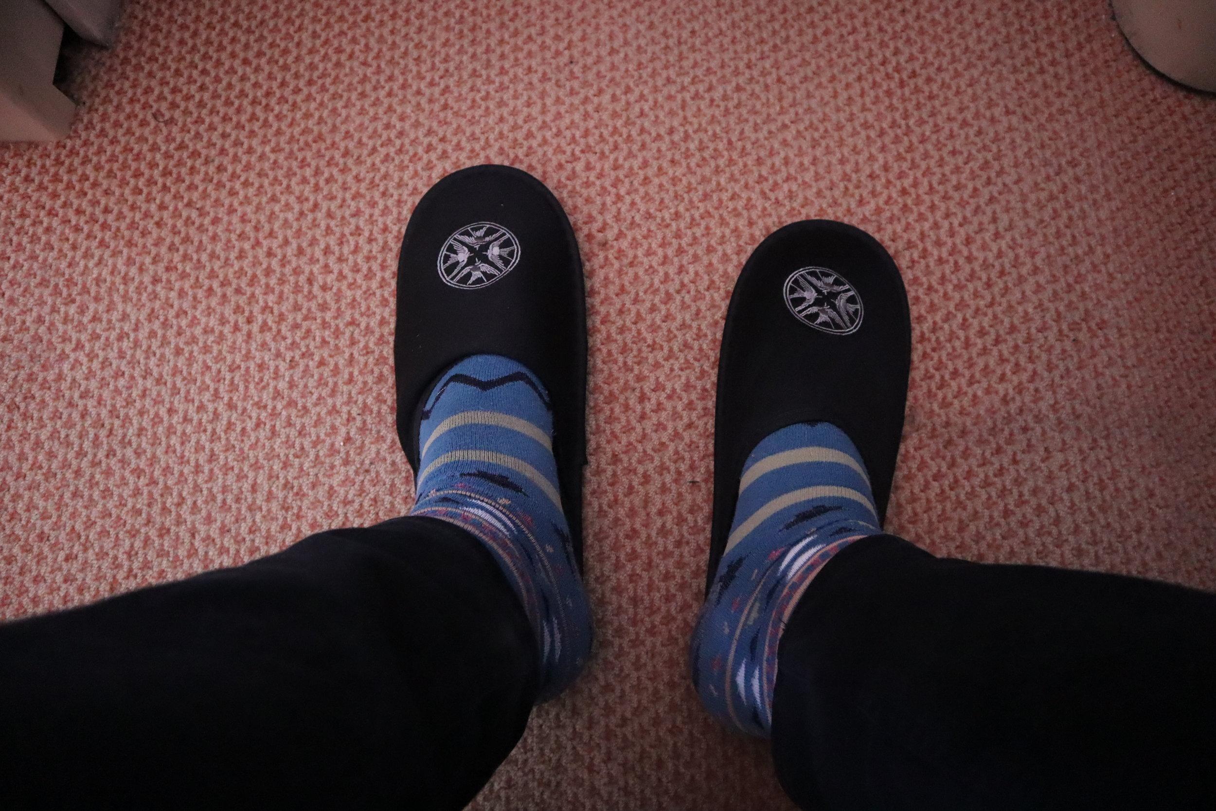Singapore Airlines Suites Class – Lalique slippers