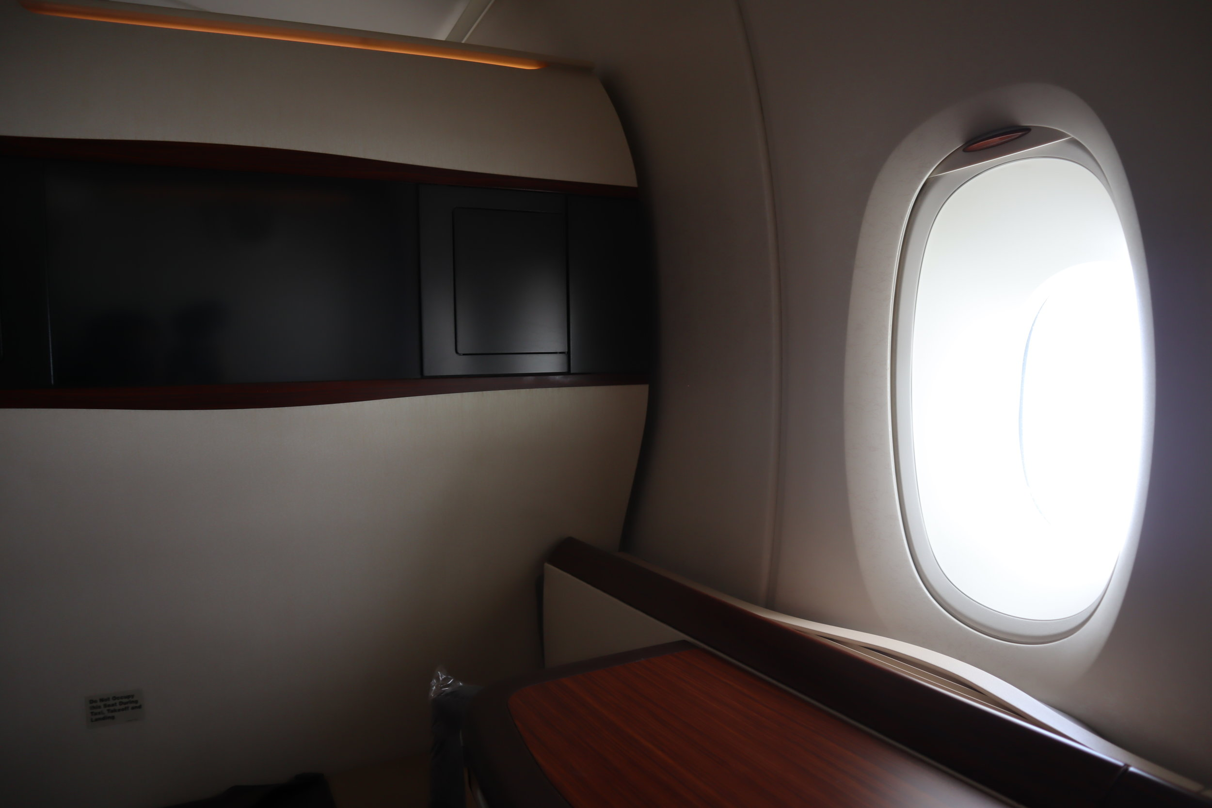 Singapore Airlines Suites Class – Window seat