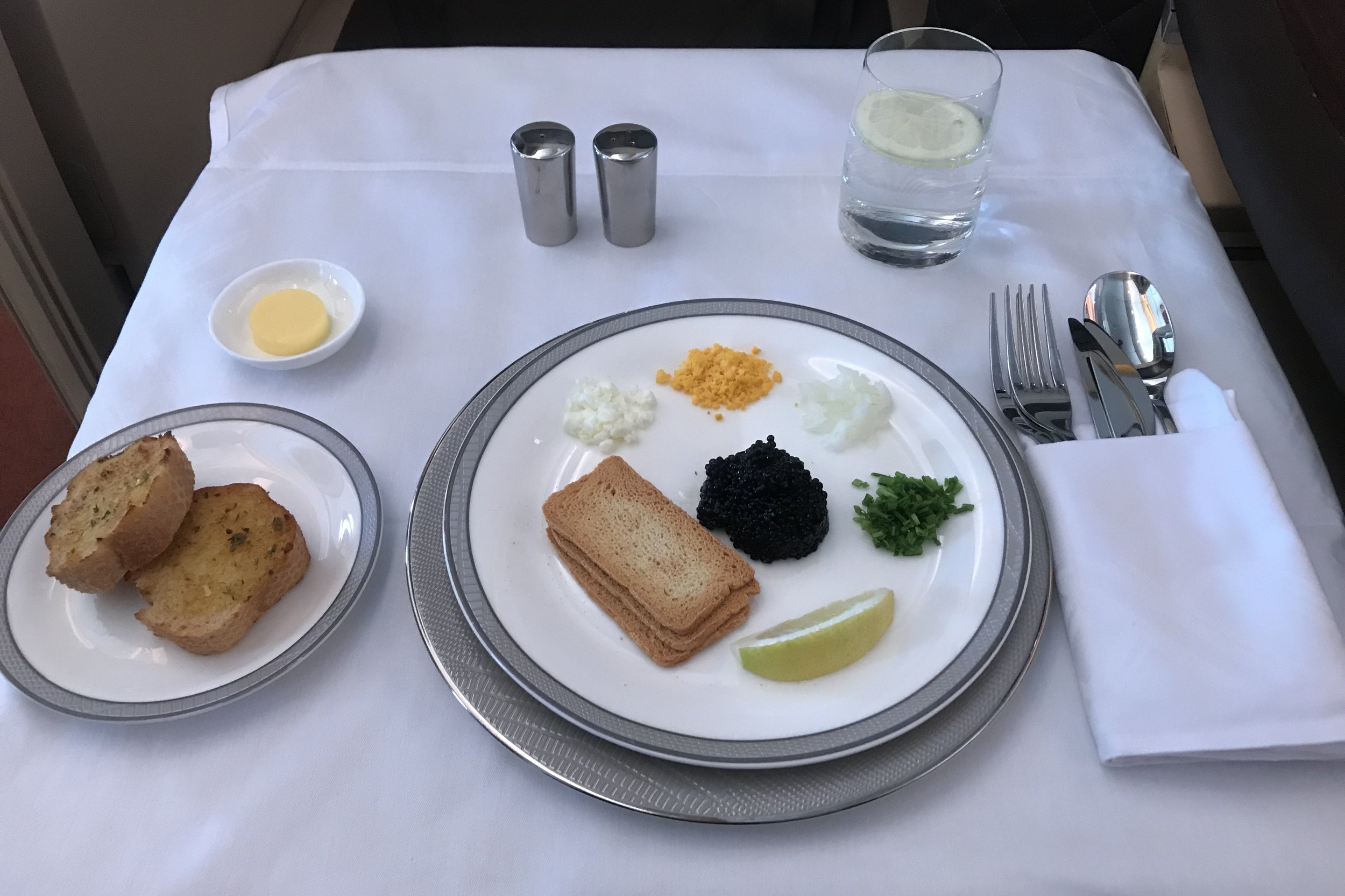Singapore Airlines Suites Class – Caviar