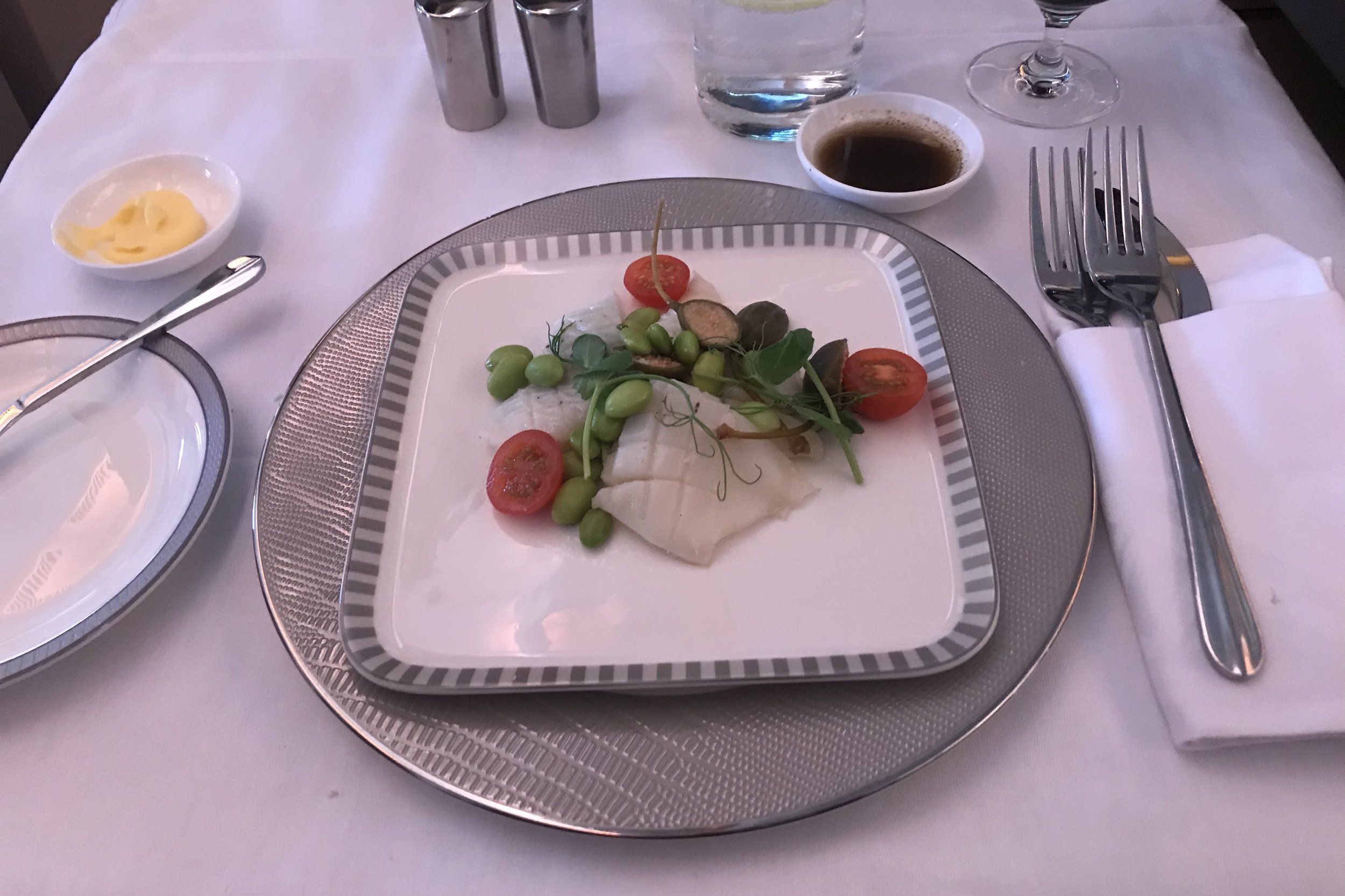 Singapore Airlines Suites Class – Chilled seafood appetizer