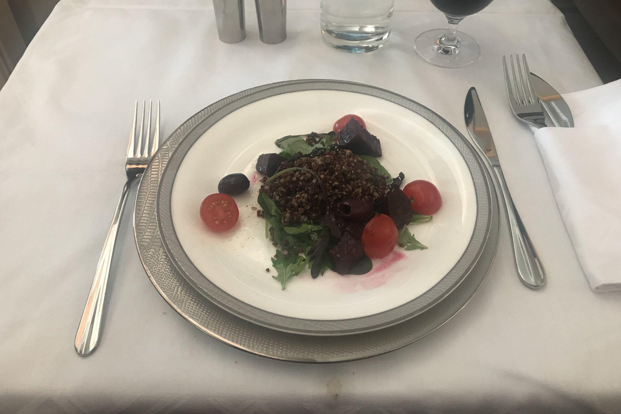 Singapore Airlines Suites Class – Salad