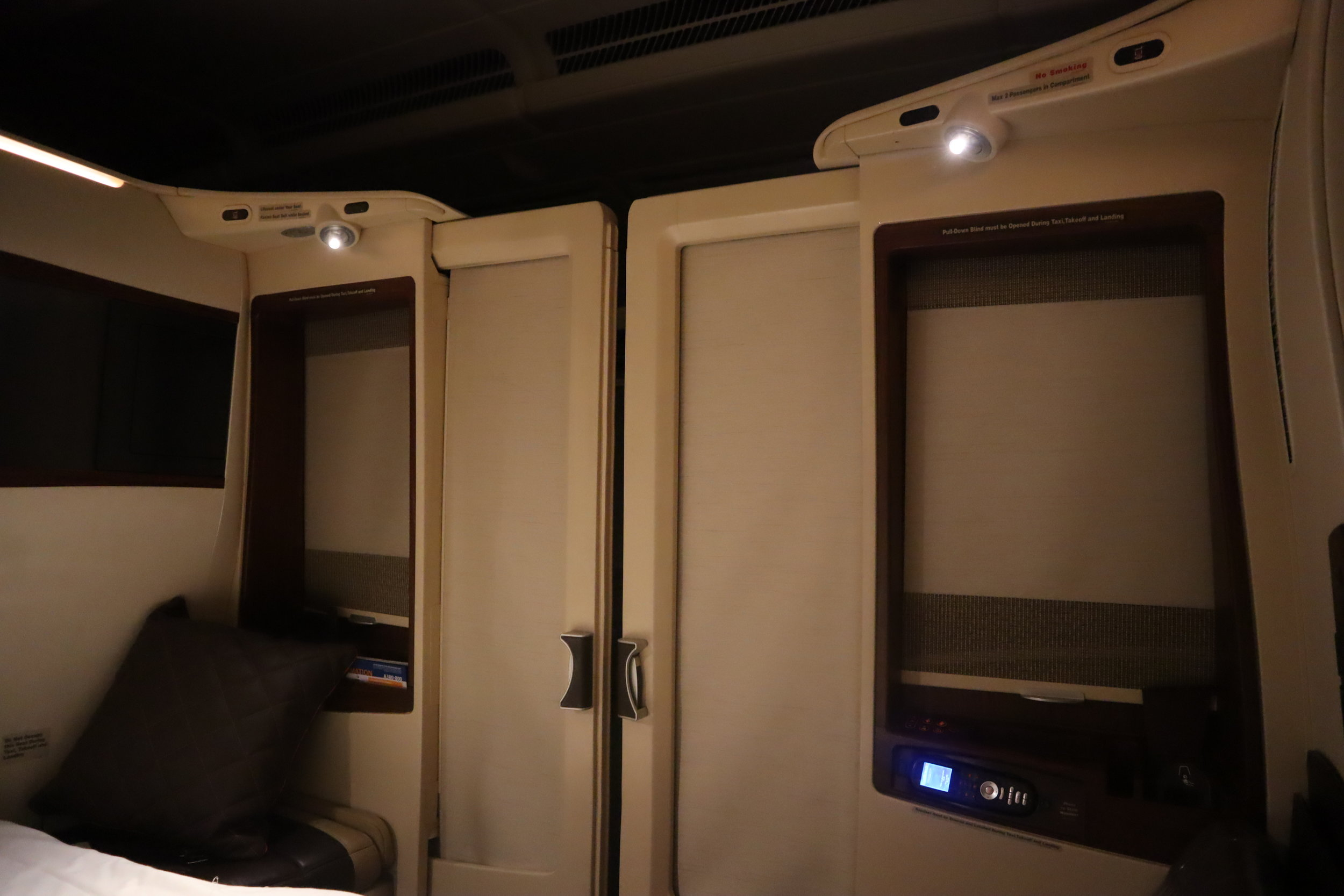 Singapore Airlines Suites Class – Privacy