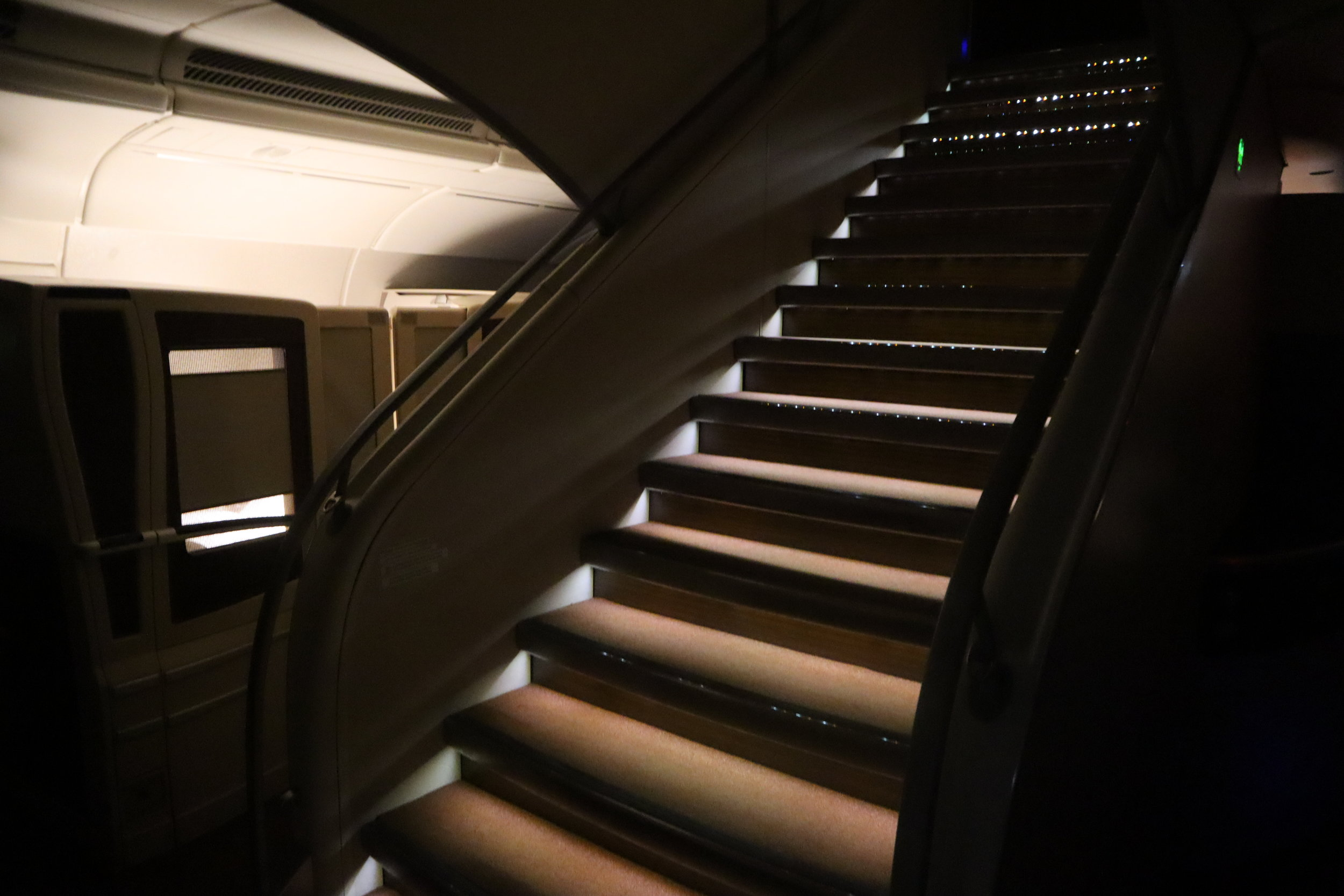 Singapore Airlines Suites Class – Airbus A380 staircase