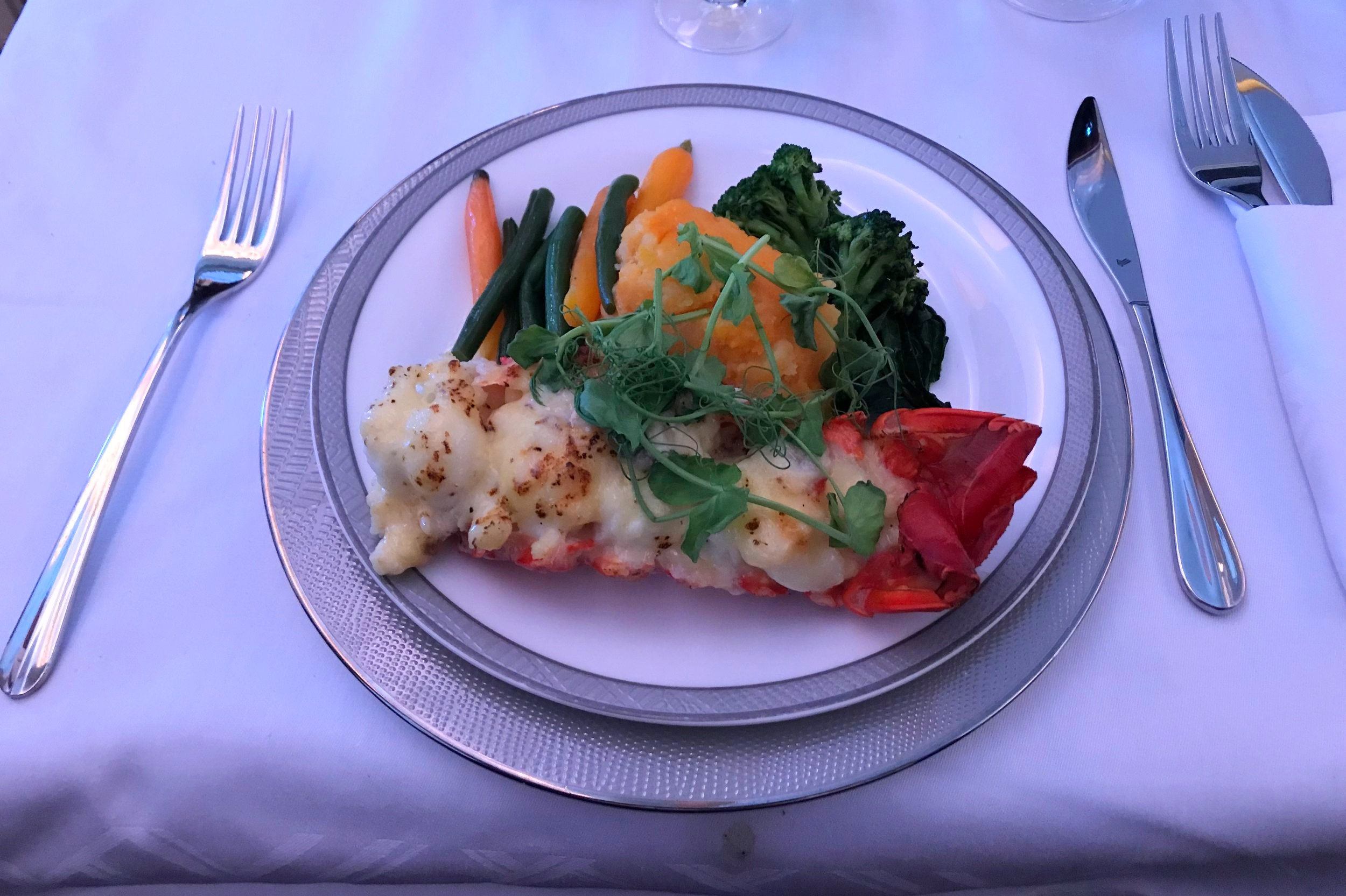 Singapore Airlines Suites Class – Lobster Thermidor