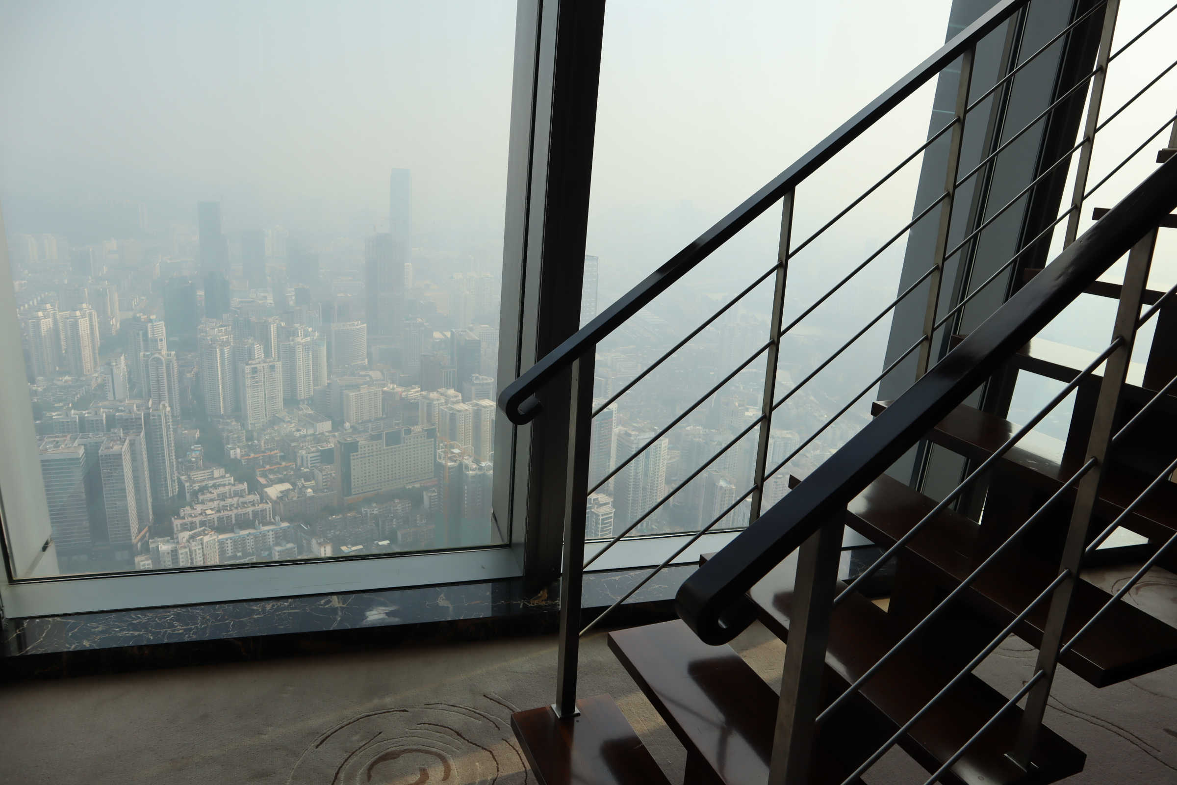 Views from the 76th floor in Shenzhen