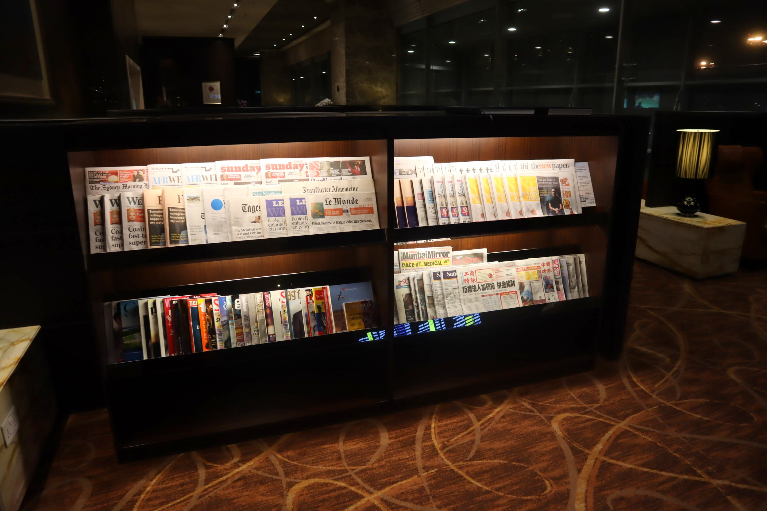 The Private Room by Singapore Airlines – Newspaper rack