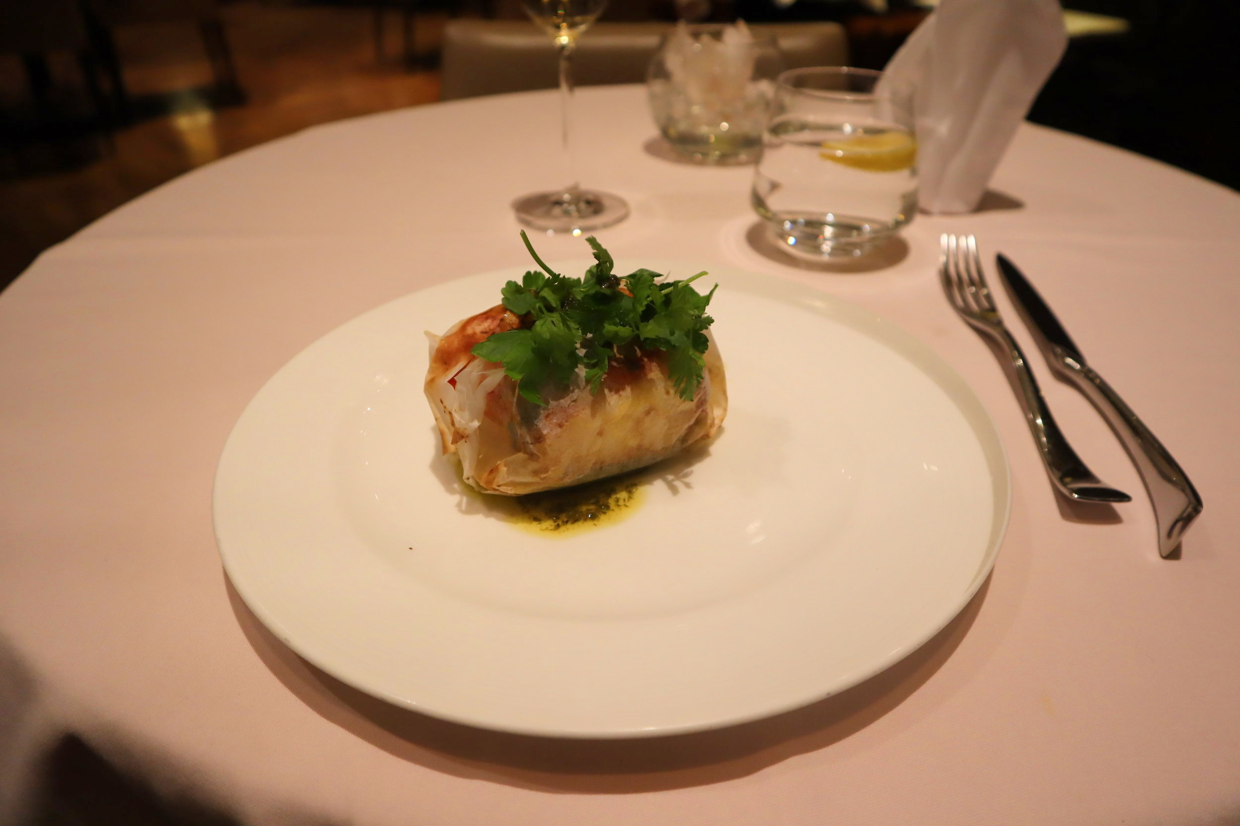The Private Room by Singapore Airlines – Baked Chilean sea bass papillote