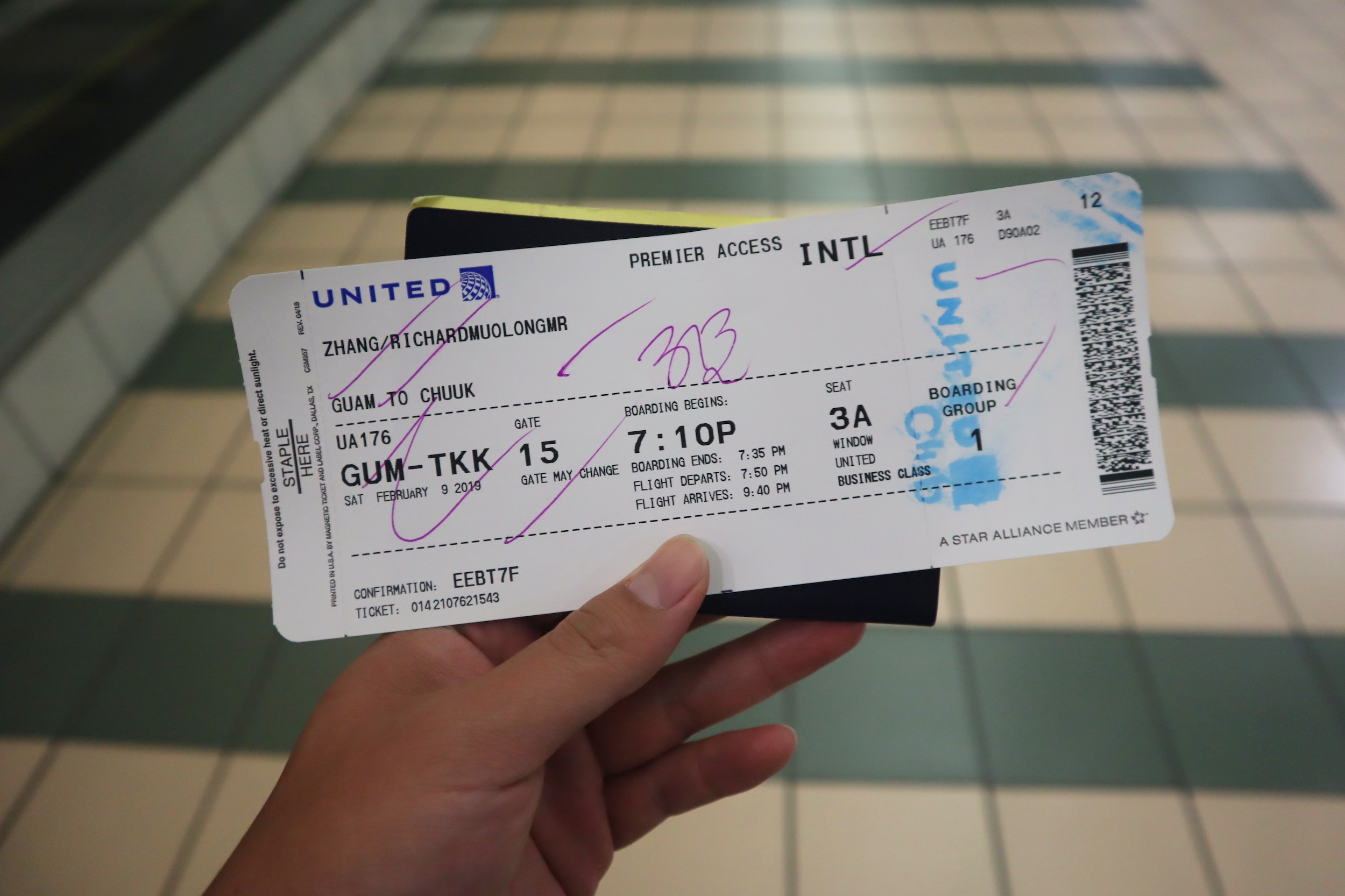 Boarding pass to Chuuk