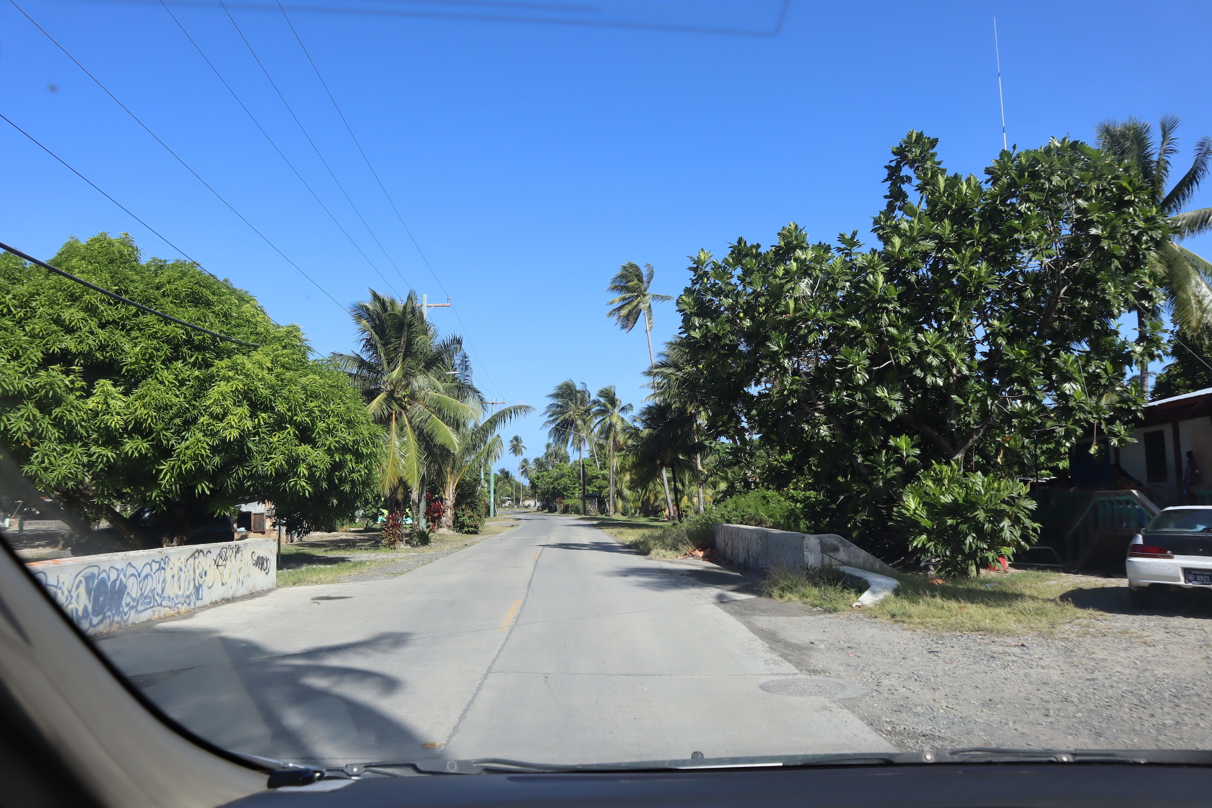 Driving back to Chuuk International Airport