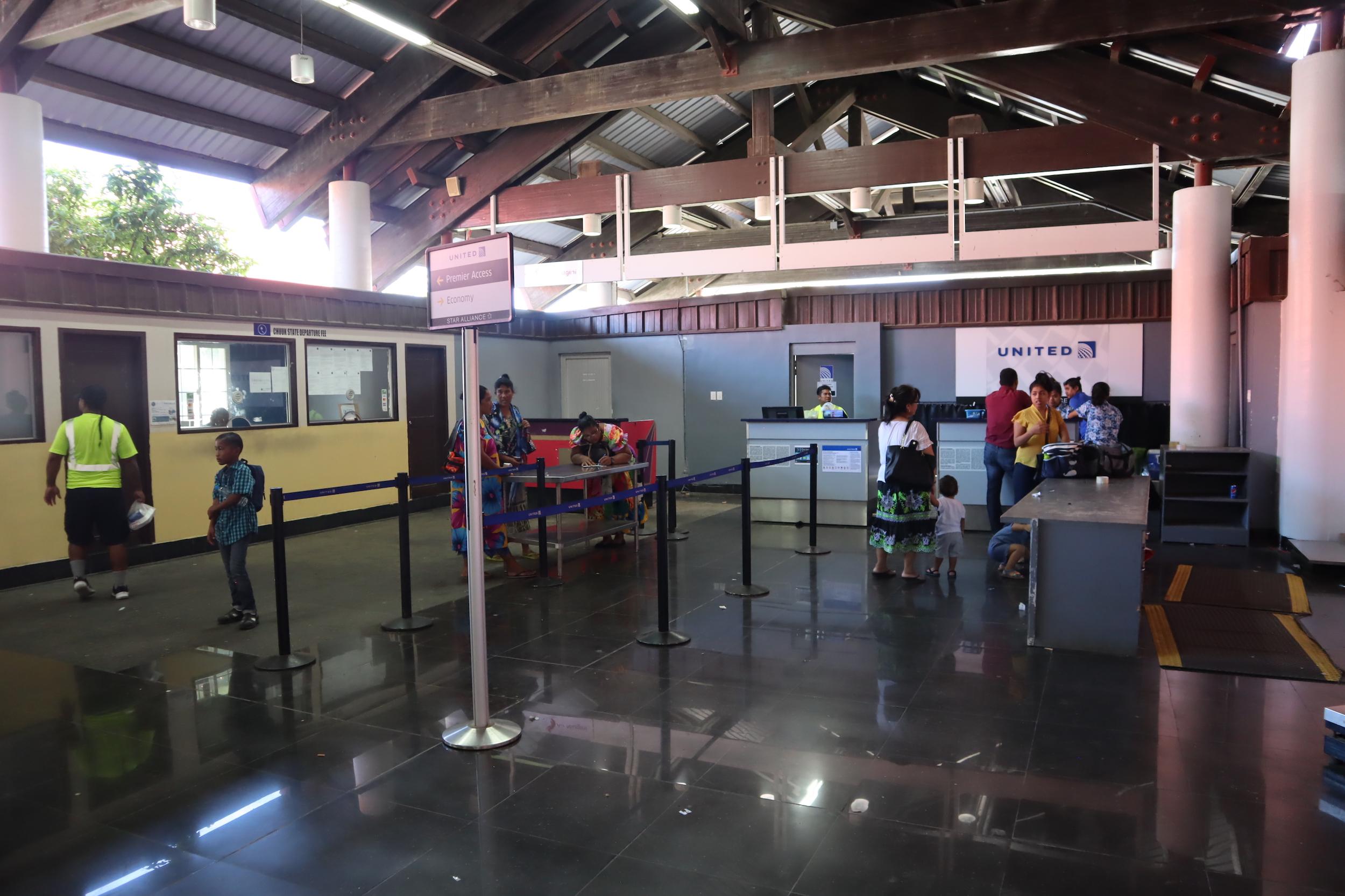 Chuuk International Airport – United check-in desk