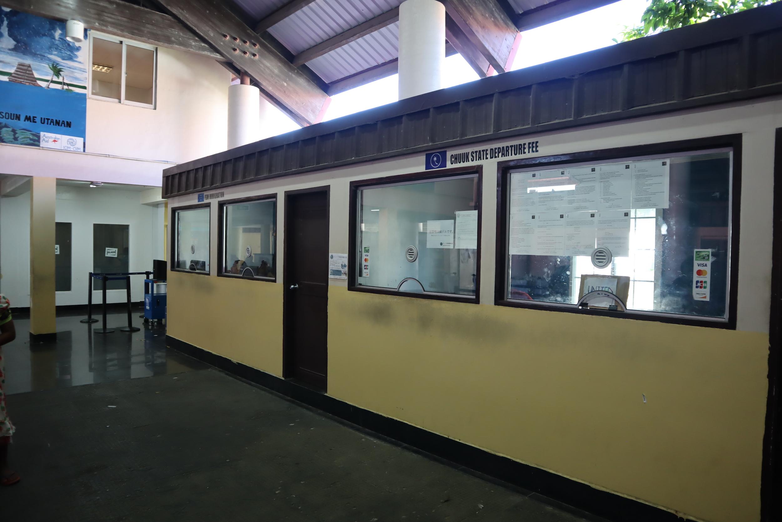 Chuuk International Airport – Departure fee desk