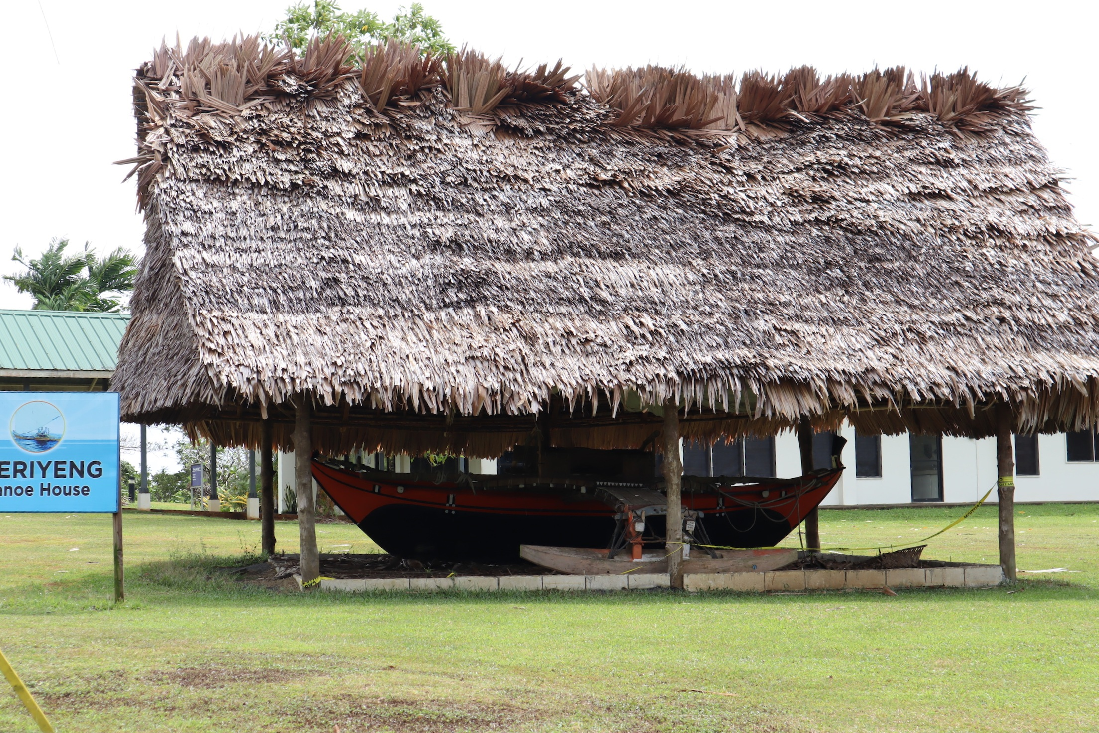 College of Micronesia – Traditional canoe house
