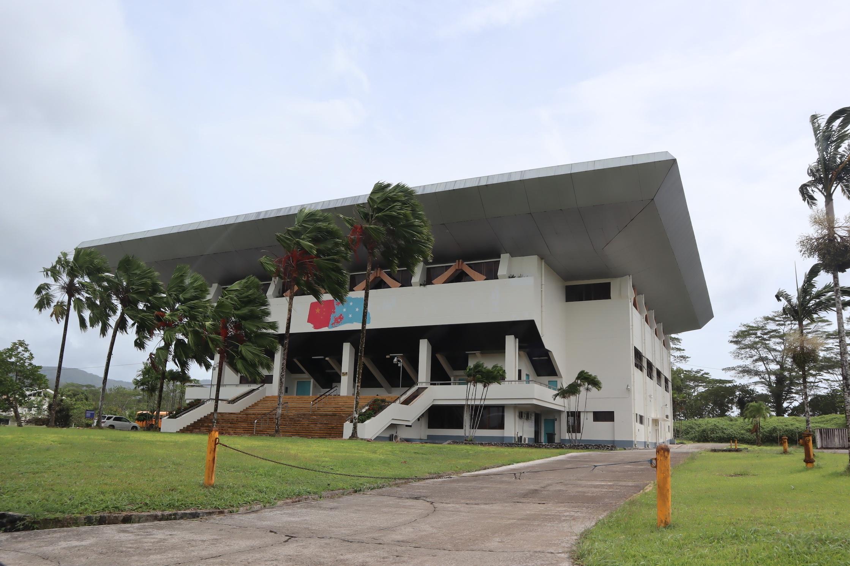Stadium built by China