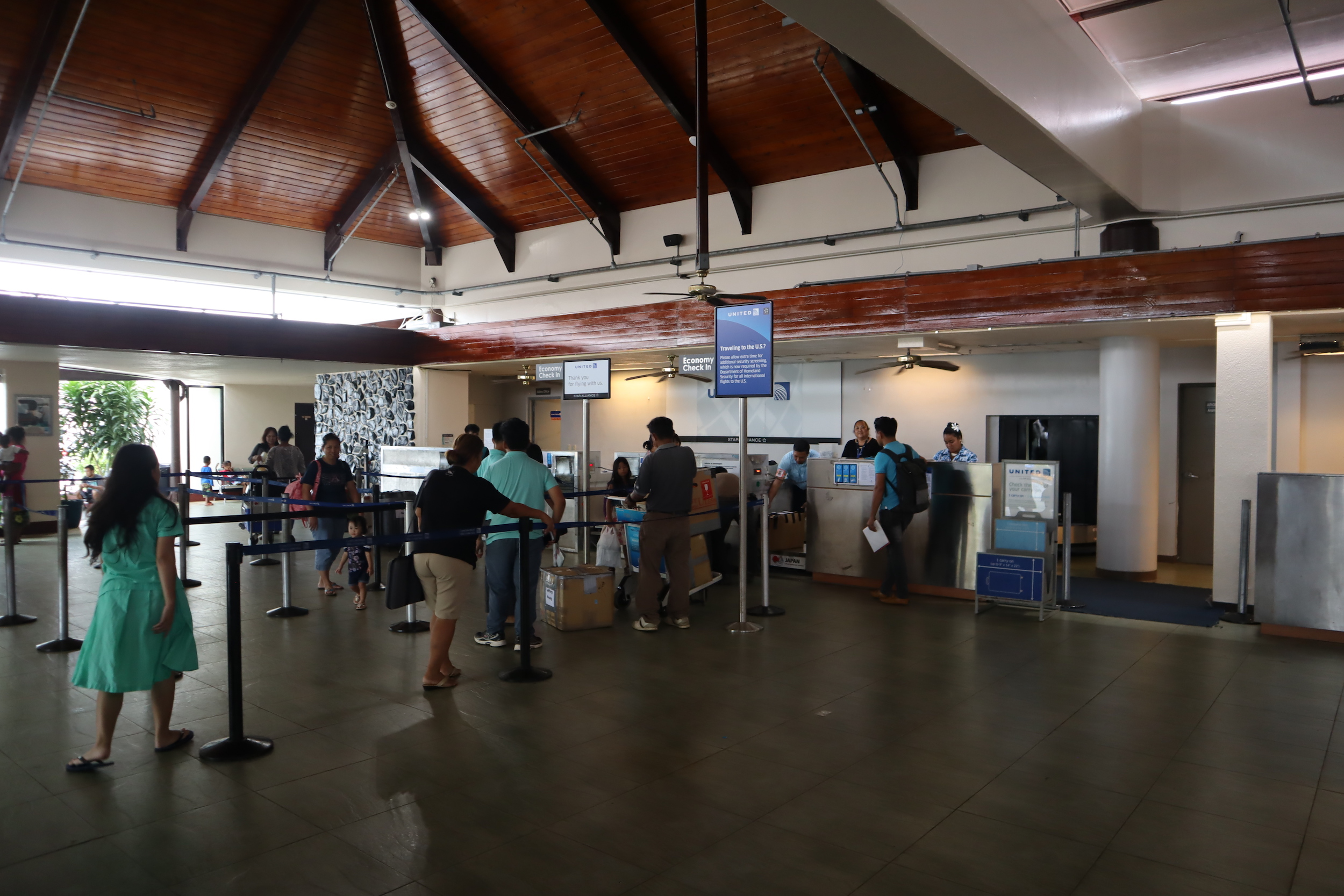 Pohnpei International Airport – United Airlines check-in desk