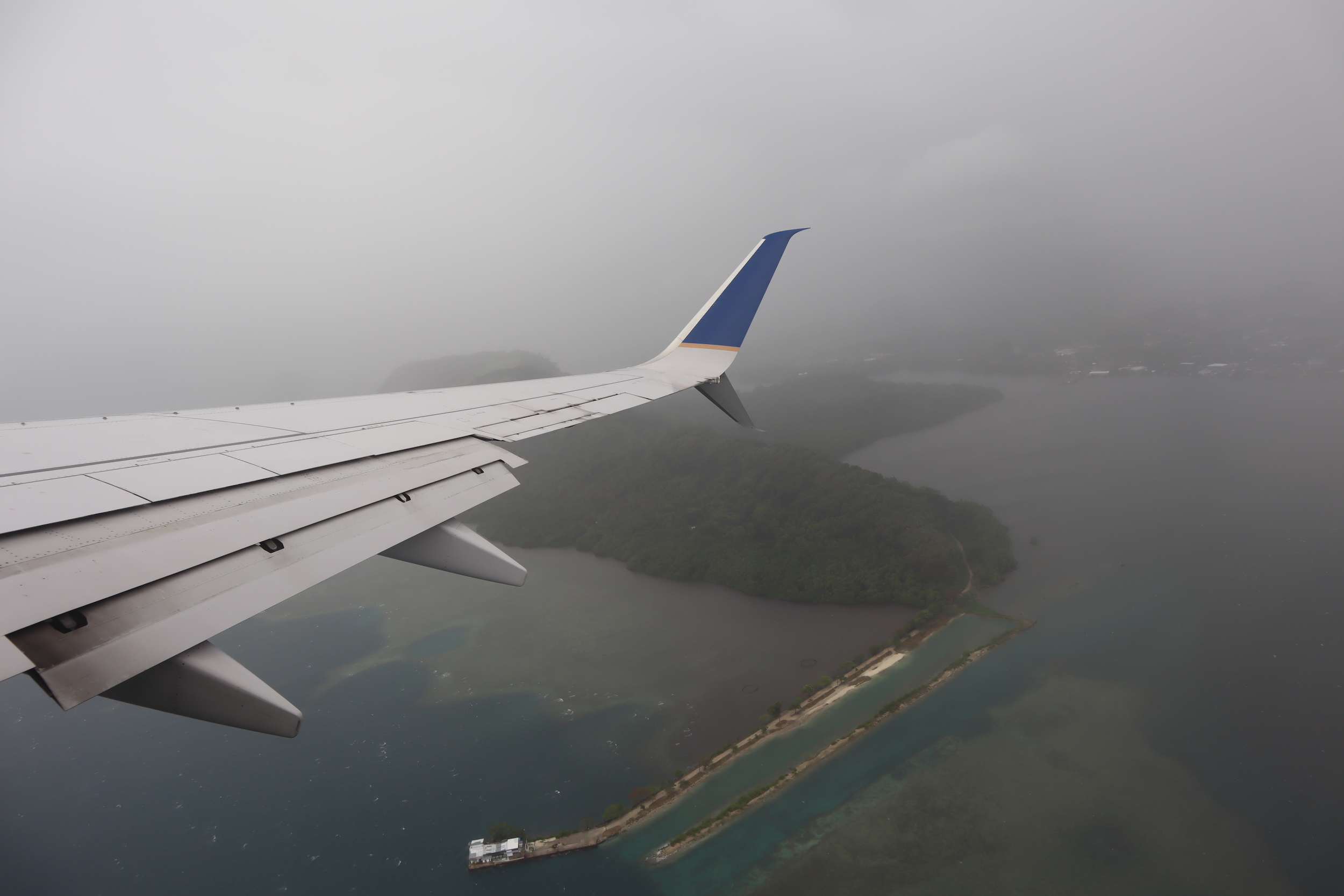United Flight 155 – Views upon departure from Pohnpei