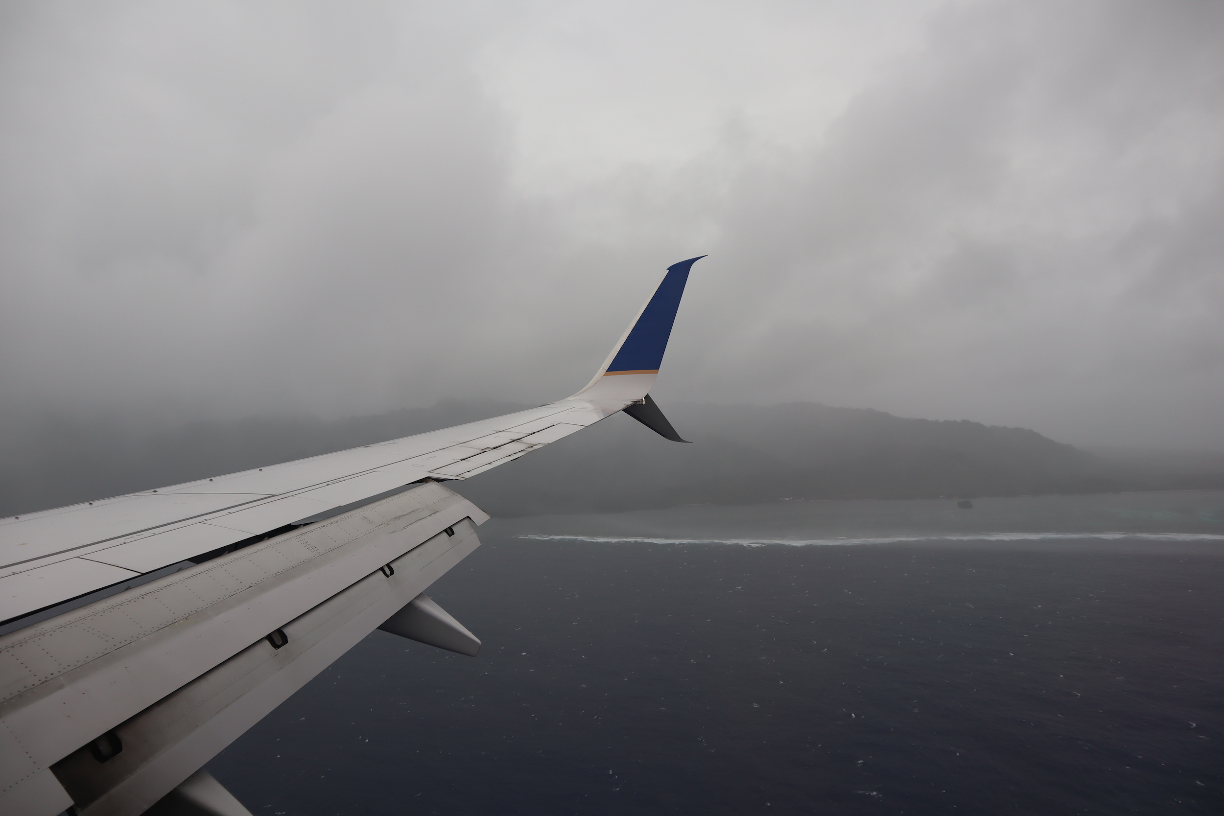 United Flight 155 – Views on approach to Kosrae