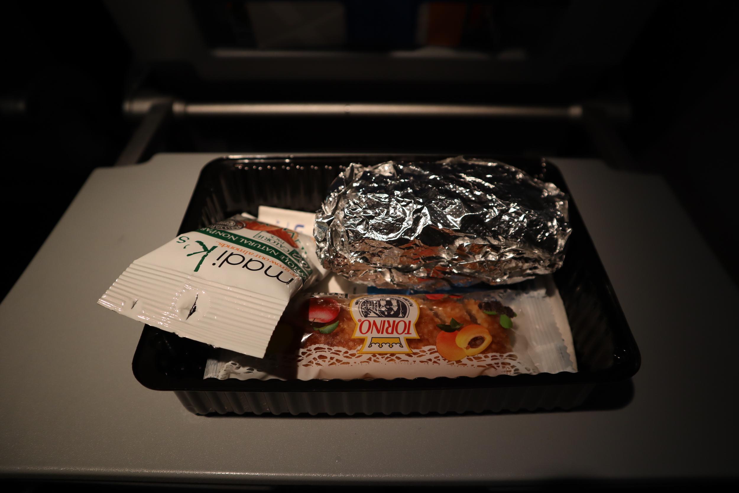United Flight 155 – In-flight meal