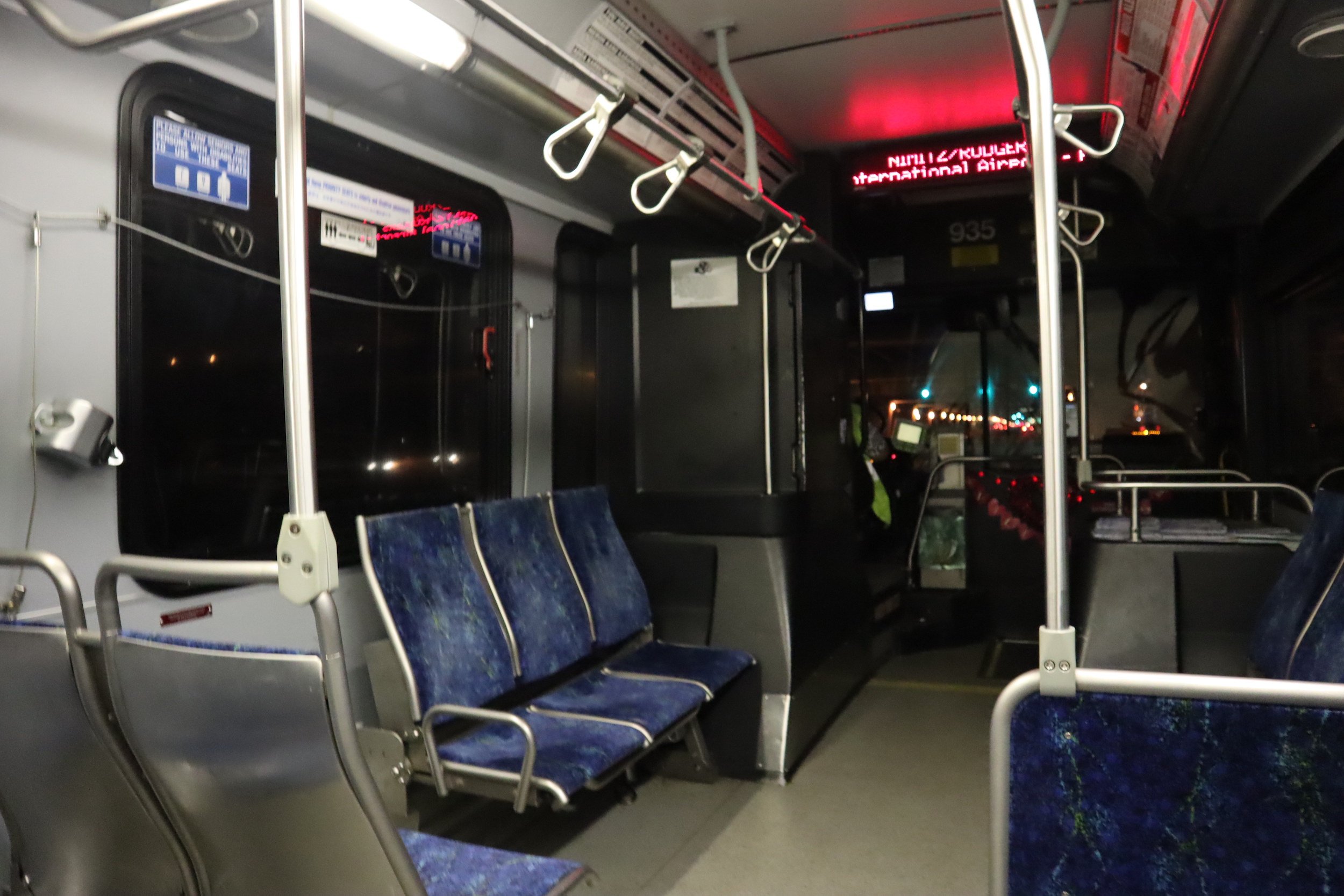 Taking the Honolulu city bus into town…