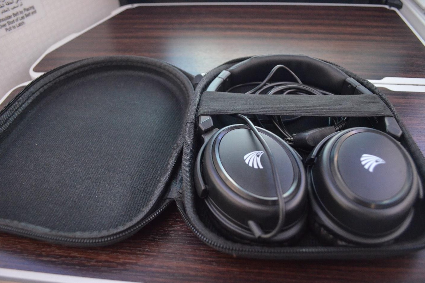 EgyptAir 787 business class – Headphones