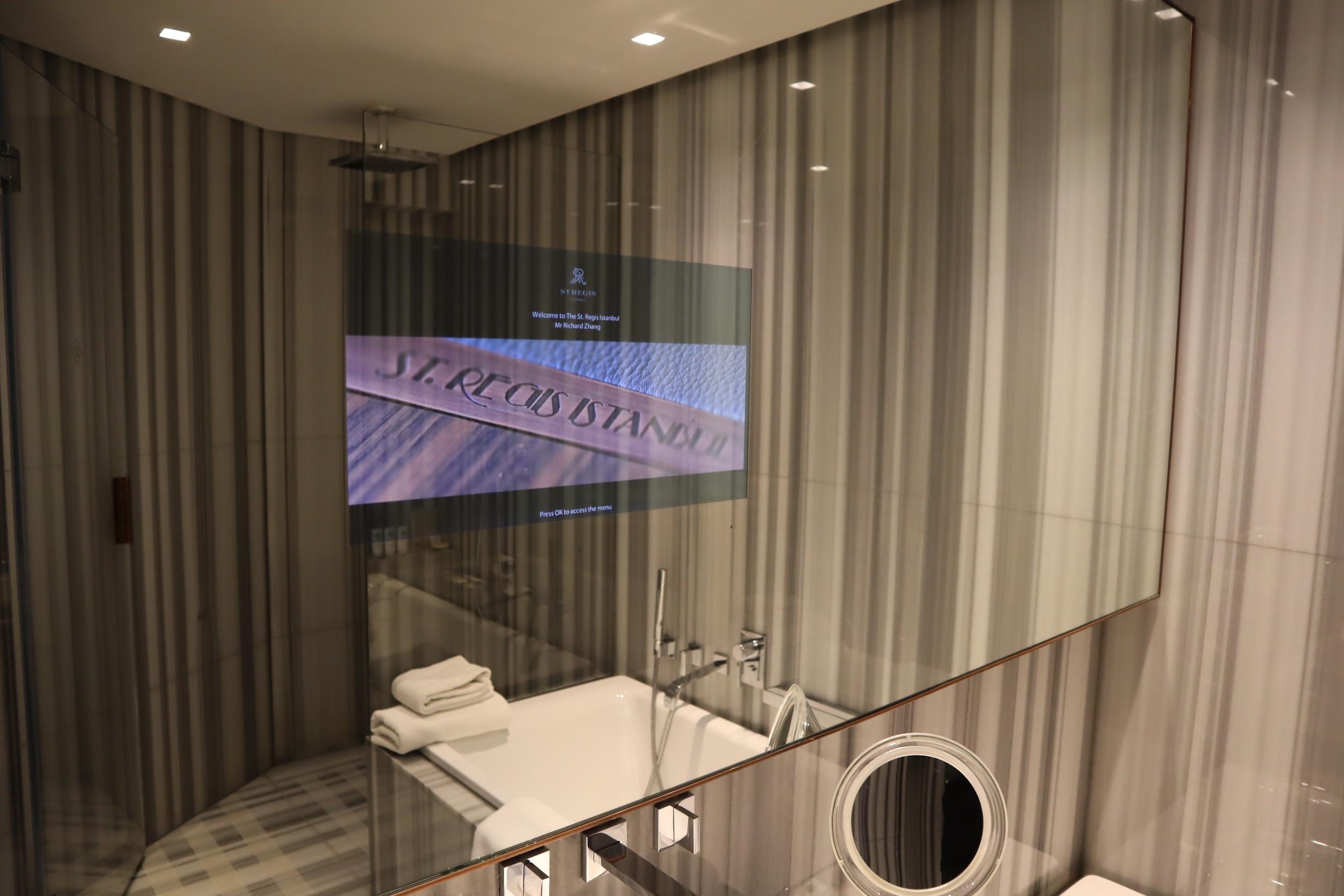 St. Regis Istanbul – St. Regis Suite bathroom television