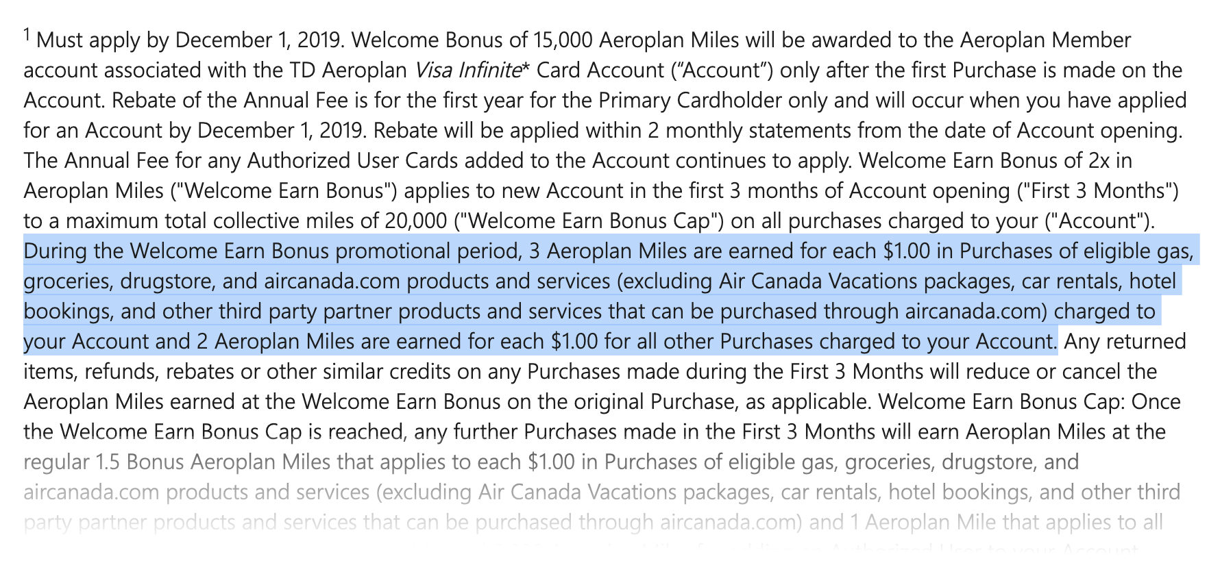 Fall 2019 Offers on the TD Aeroplan Cards | Prince of Travel