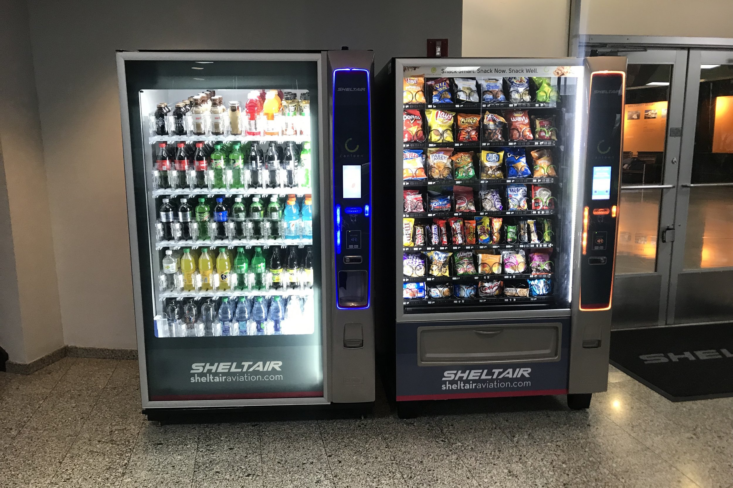 BLADE Helicopters – SheltAir Lounge vending machines