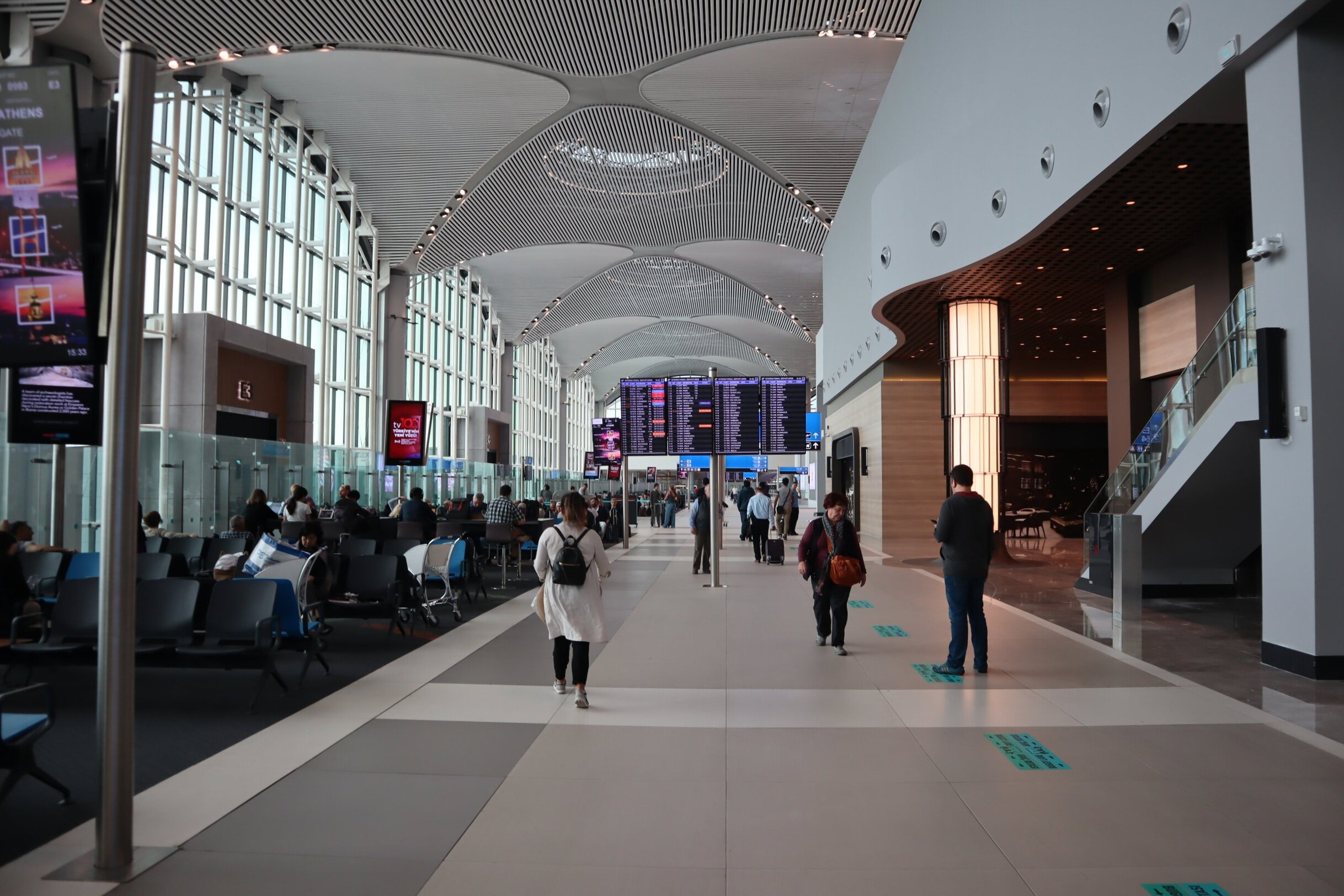 Istanbul New Airport – Departures hall