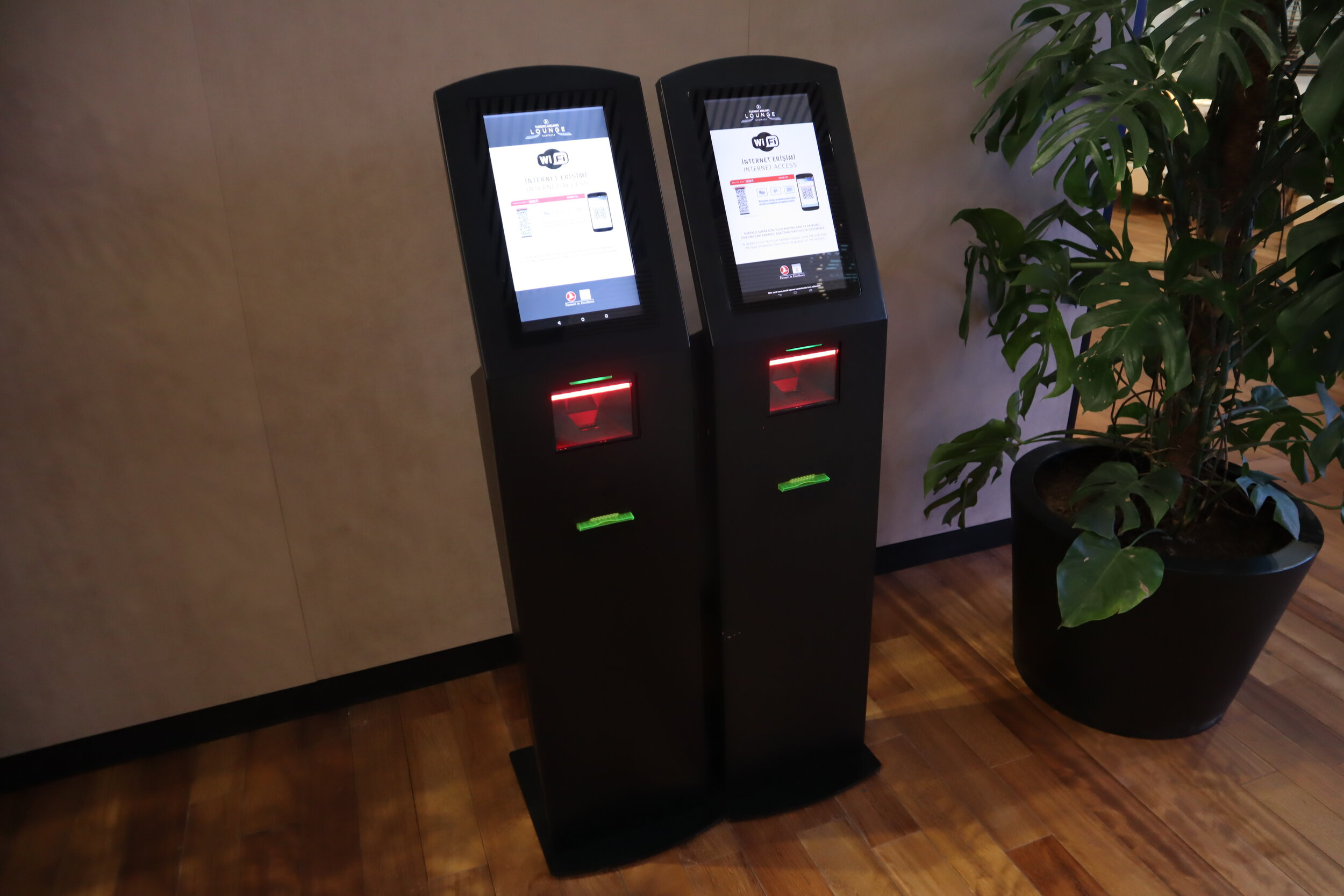 Turkish Airlines Business Lounge Istanbul – Wifi machines