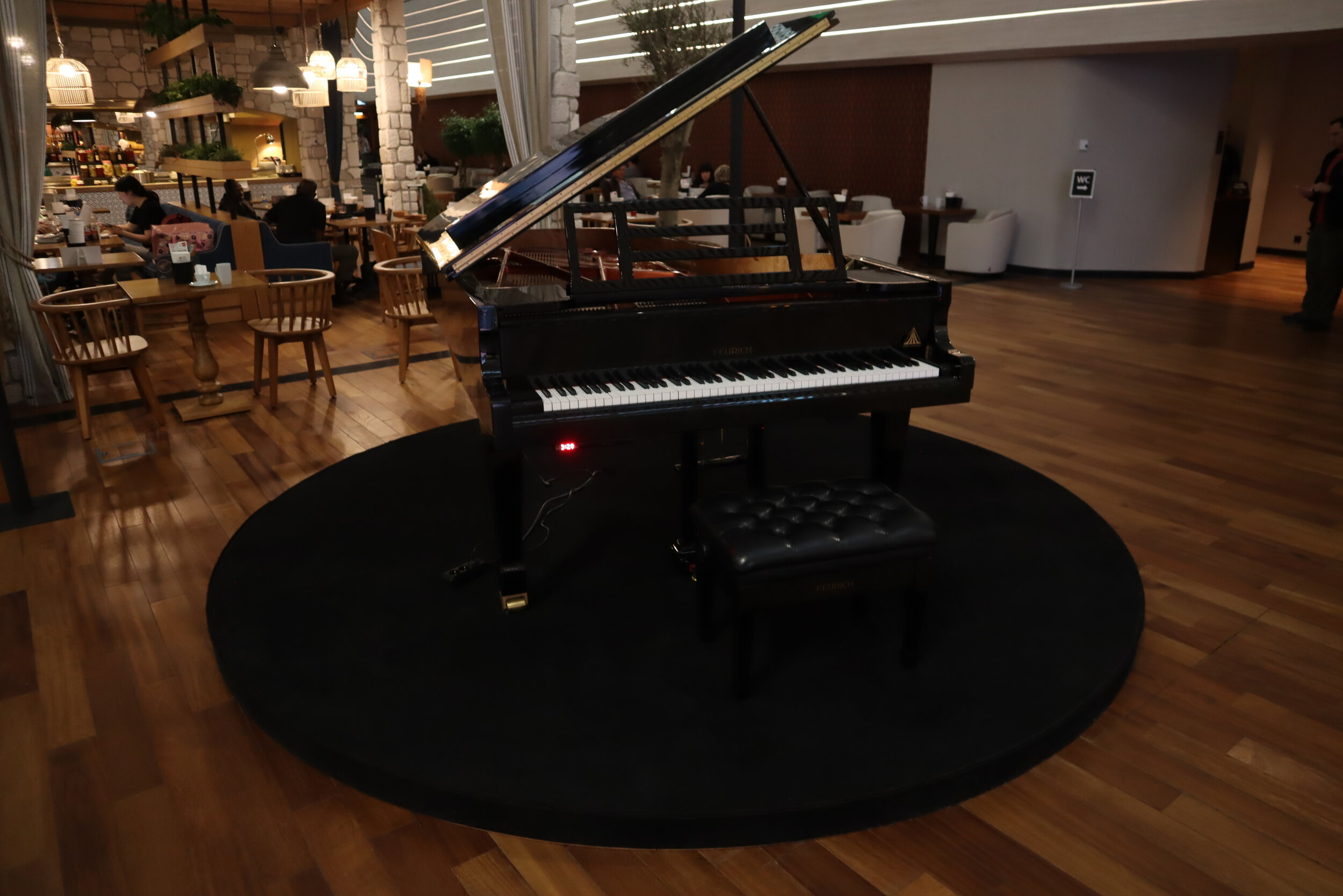 Turkish Airlines Business Lounge Istanbul – Grand piano