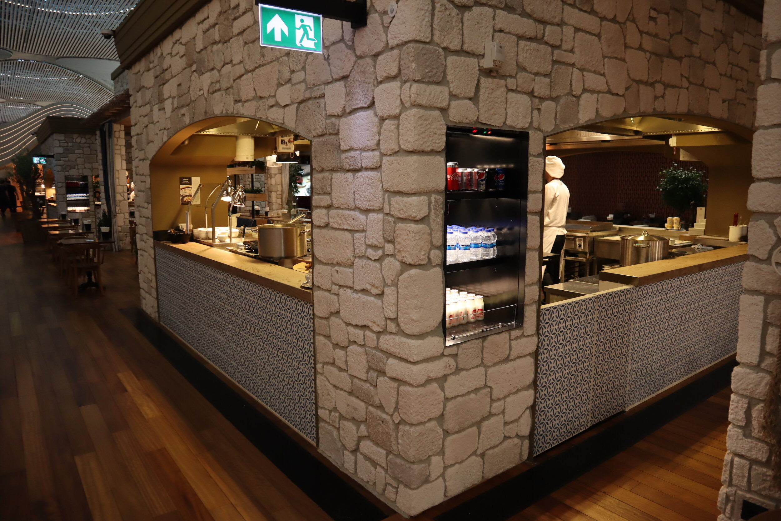 Turkish Airlines Business Lounge Istanbul – Kitchen