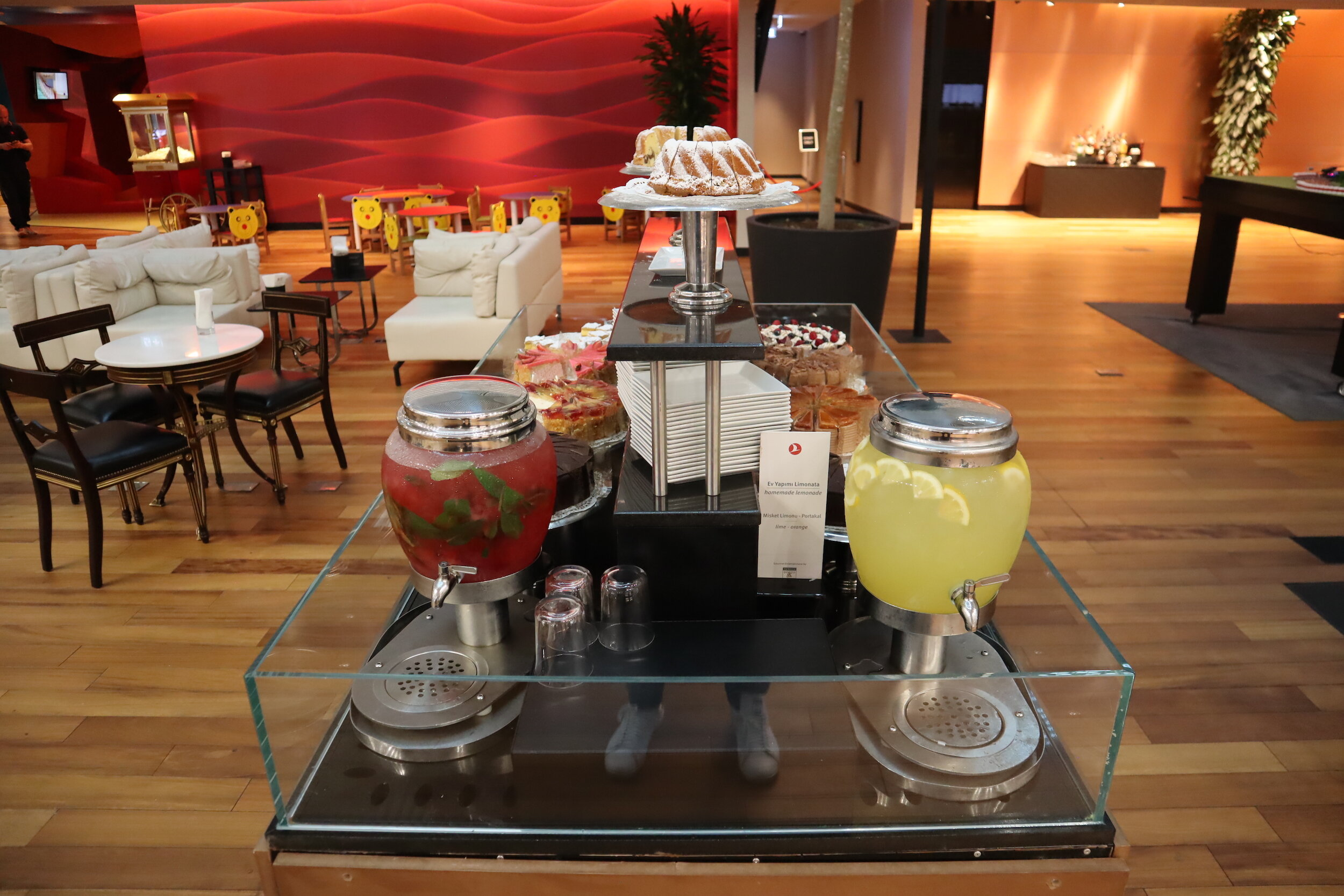 Turkish Airlines Business Lounge Istanbul – Baklava and juices