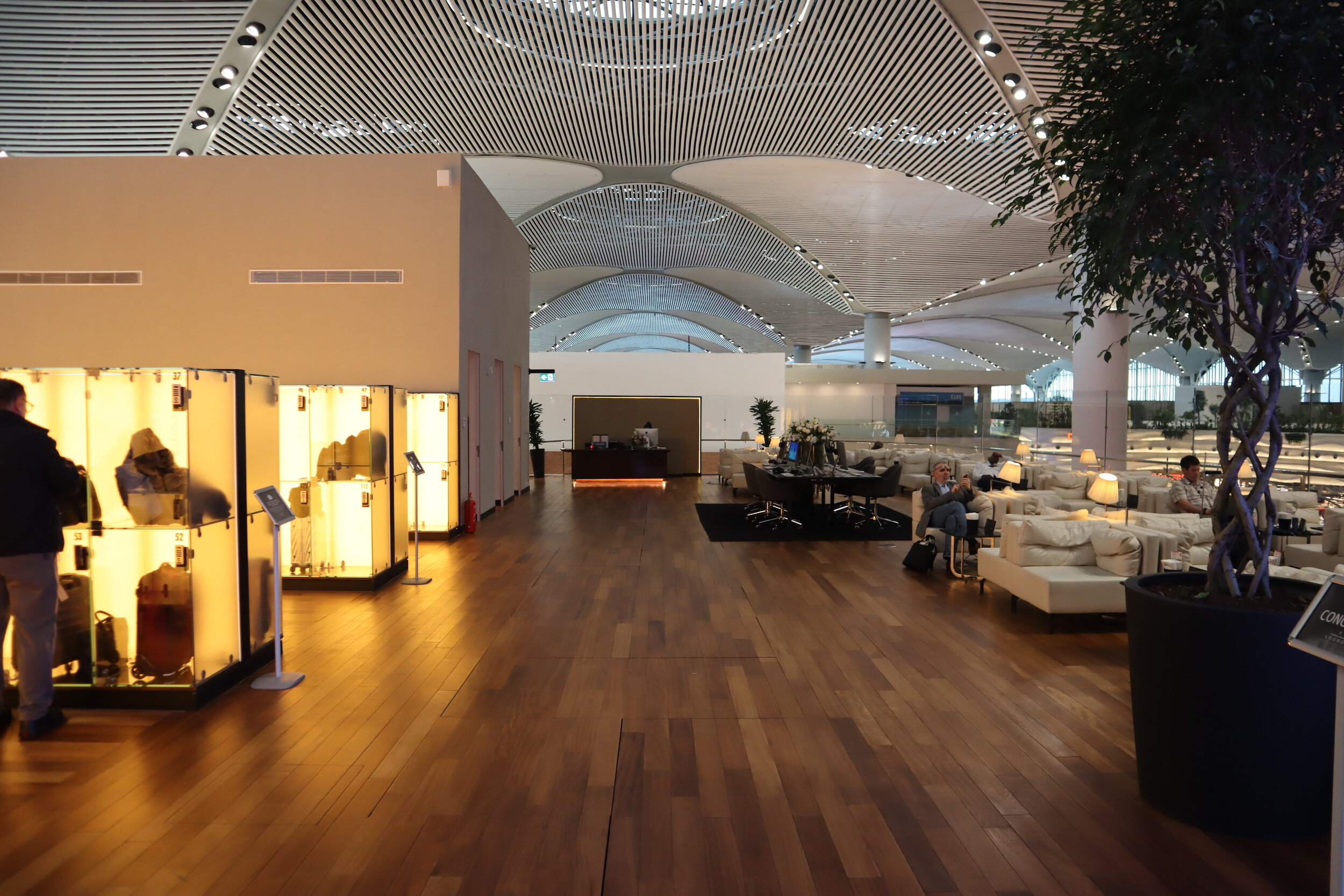 Turkish Airlines Business Lounge Istanbul – Turning left from the entryway