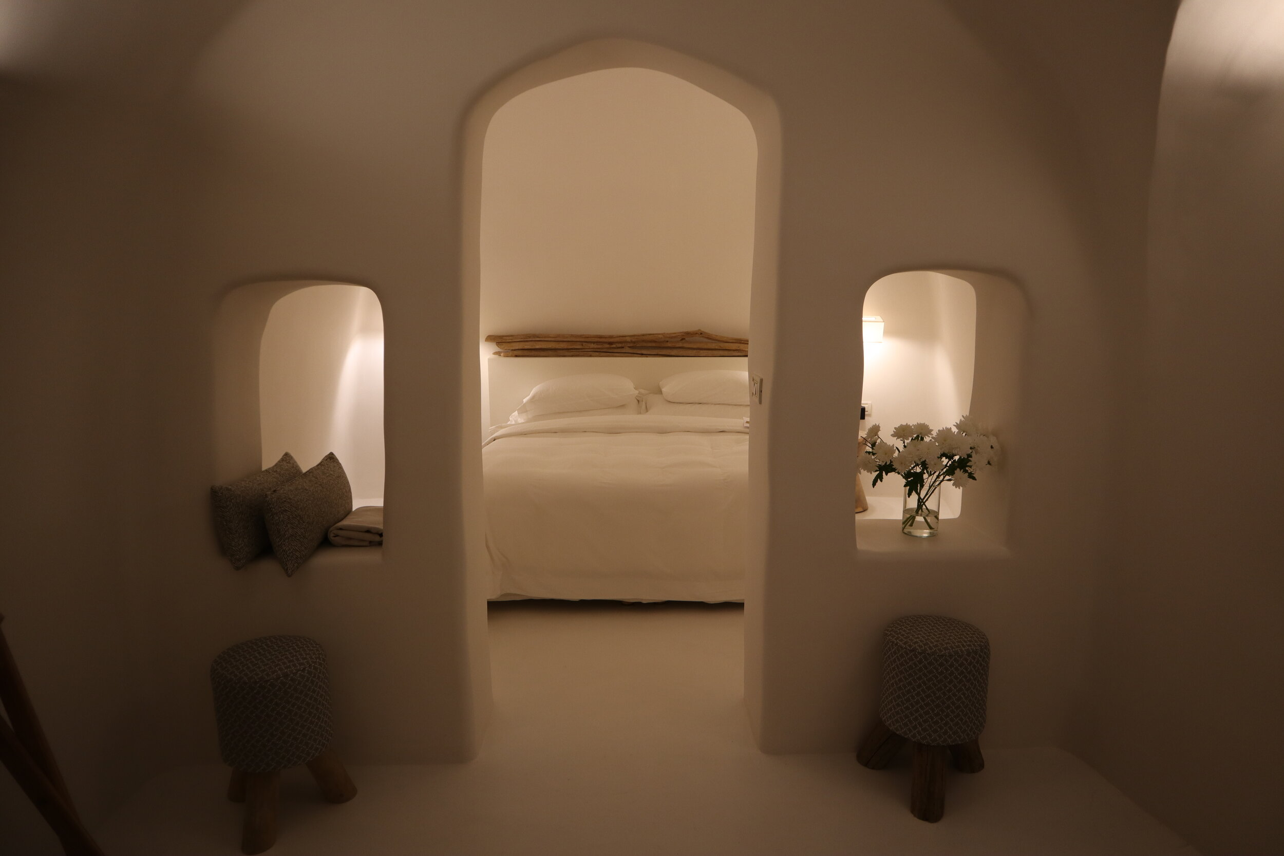 Mystique Santorini – Wet Allure Suite bedroom